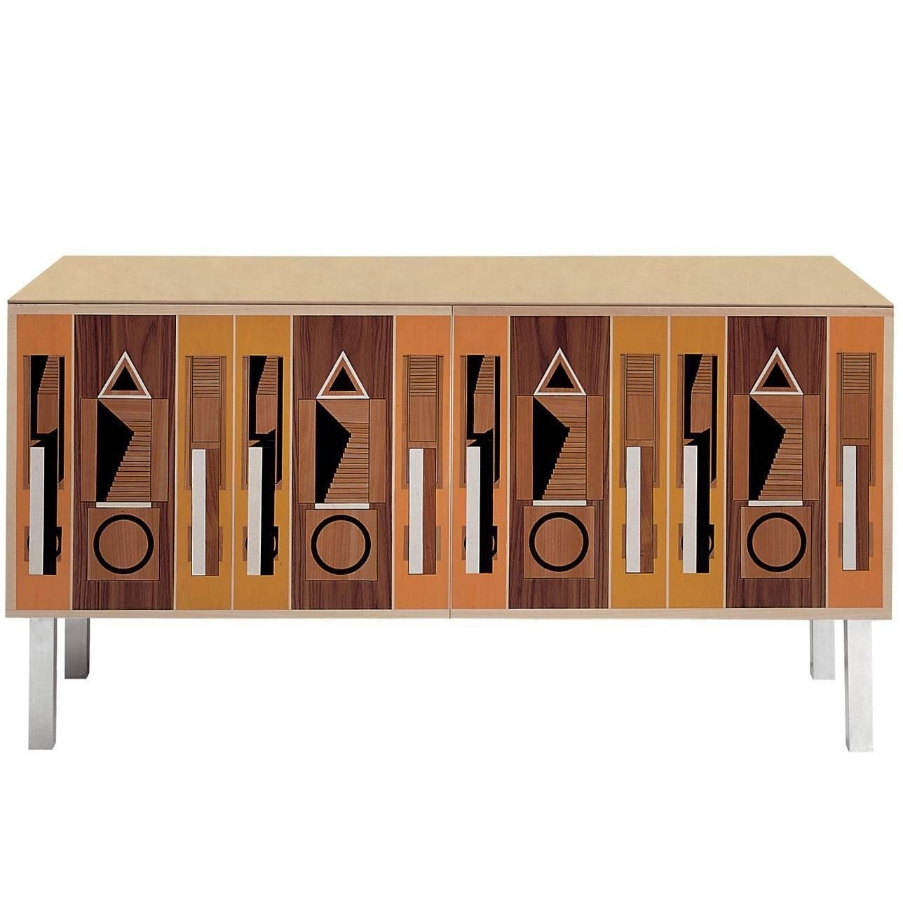 Striking 'intarsia' Sideboard With A Vintage Designaldo Rossi in Rossi Large Sideboards (Image 23 of 30)