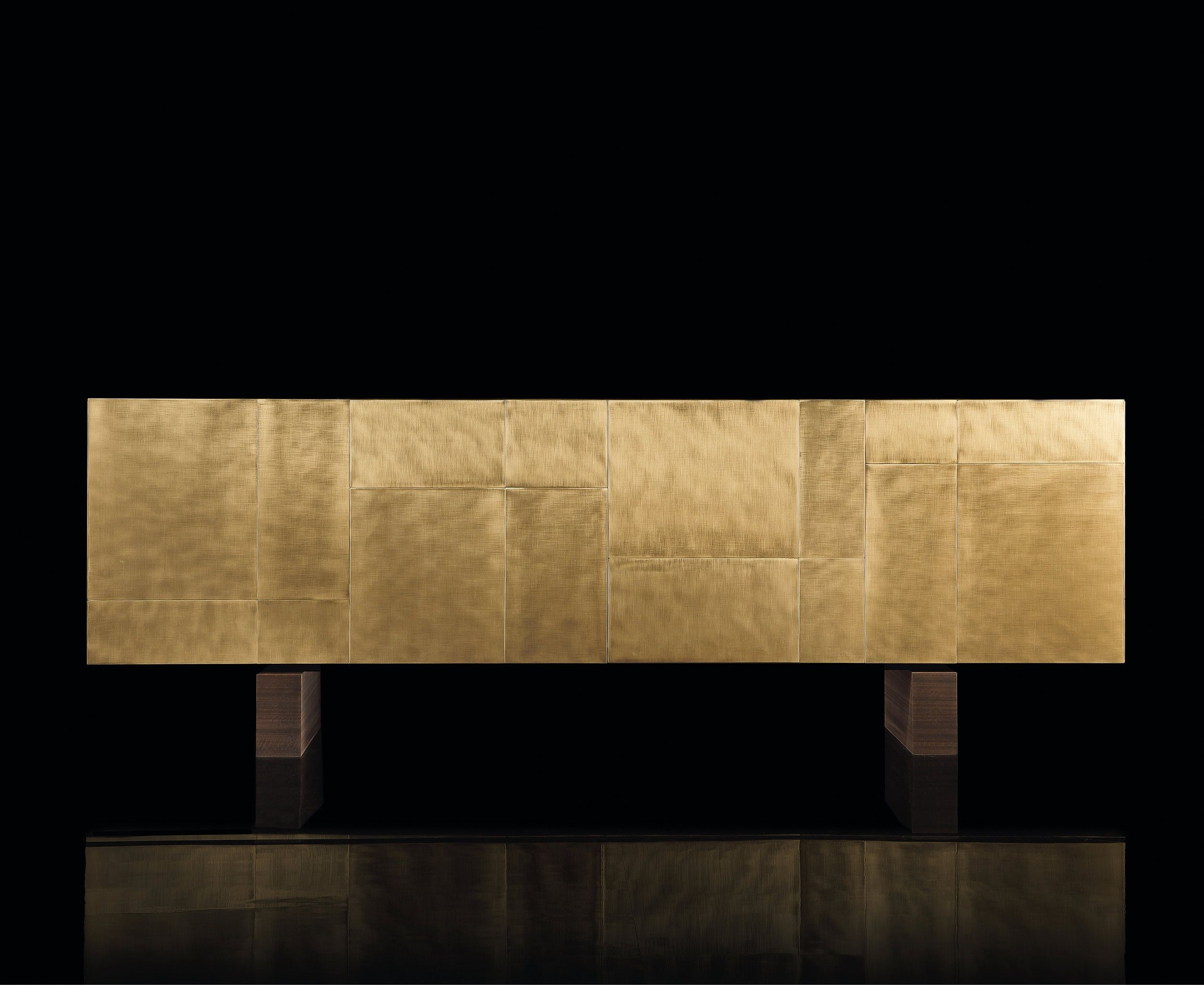 Structure Structure, Base And N. 4 Doors In 2,5 Cm Thick Solidwood regarding Square Brass 4 Door Sideboards (Image 24 of 30)