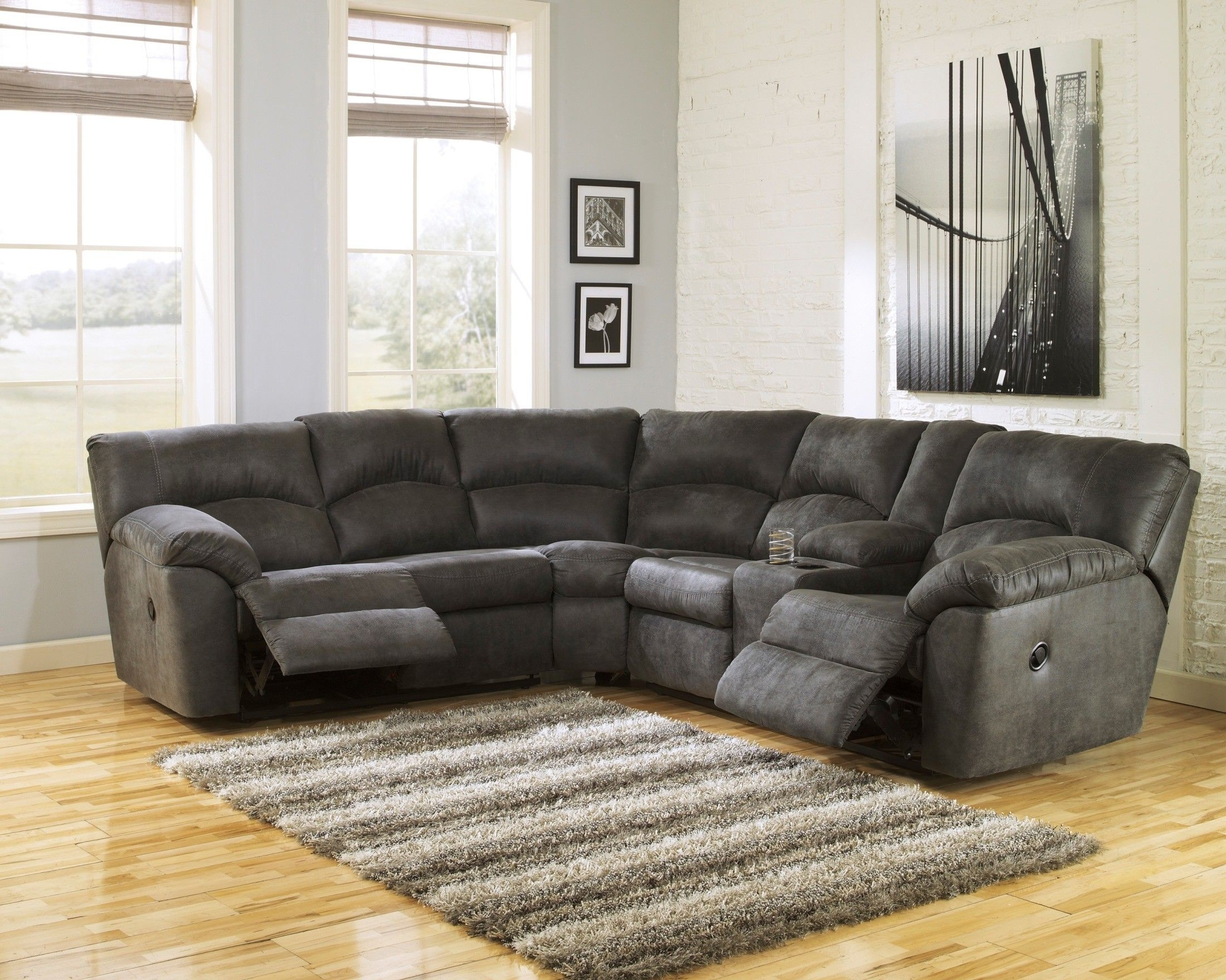 Tambo Pewter, Asl-27801-48-49, Ashley Furniture | My Livingroom within Norfolk Chocolate 6 Piece Sectionals (Image 29 of 30)