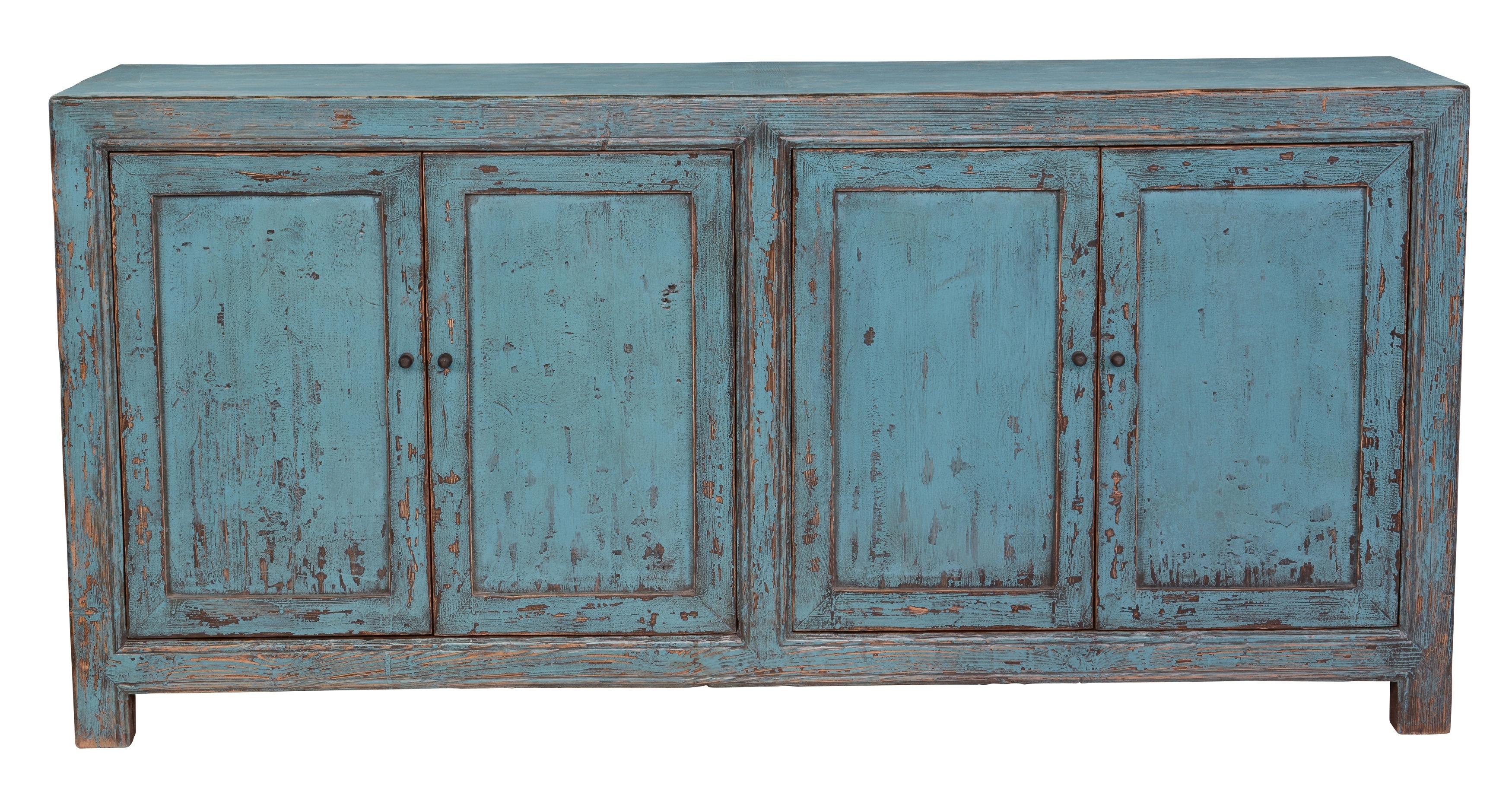 Tapscott Reclaimed Pine 4 Door Sideboard & Reviews | Joss & Main for Reclaimed Pine & Iron 4-Door Sideboards (Image 28 of 30)