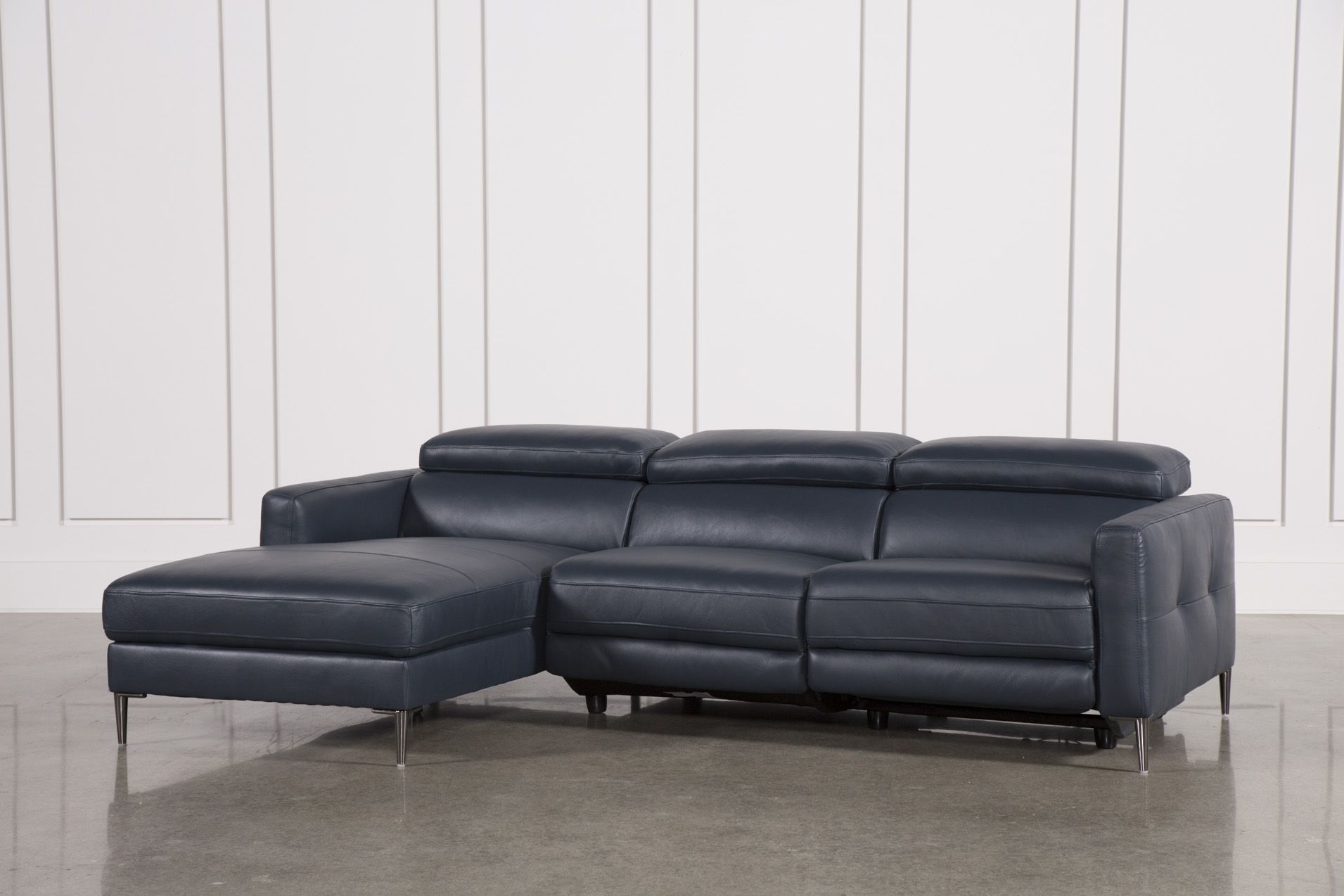 Tara Blue 2 Piece Left Facing Chaise Sofa | Products | Pinterest in Tenny Dark Grey 2 Piece Left Facing Chaise Sectionals With 2 Headrest (Image 27 of 30)