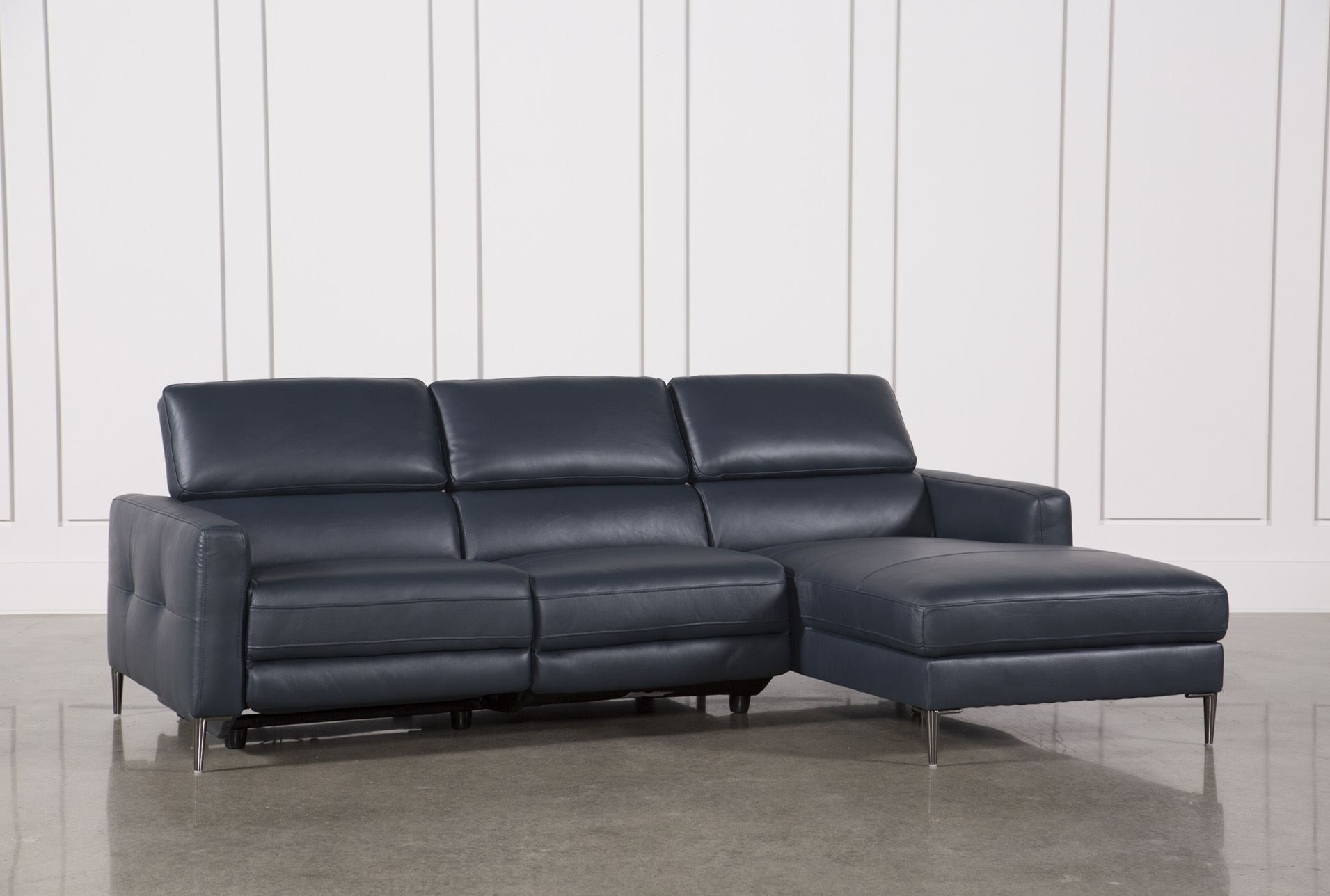 Tara Blue 2 Piece Right Facing Chaise Sofa | Chaise Sofa, Living throughout Tess 2 Piece Power Reclining Sectionals With Laf Chaise (Image 24 of 30)