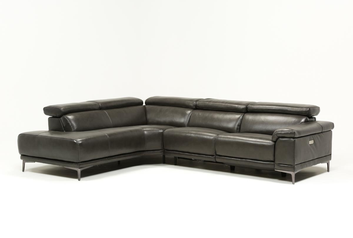 Tatum Dark Grey 2 Piece Sectional W/laf Chaise | Living Spaces intended for Tess 2 Piece Power Reclining Sectionals With Laf Chaise (Image 25 of 30)