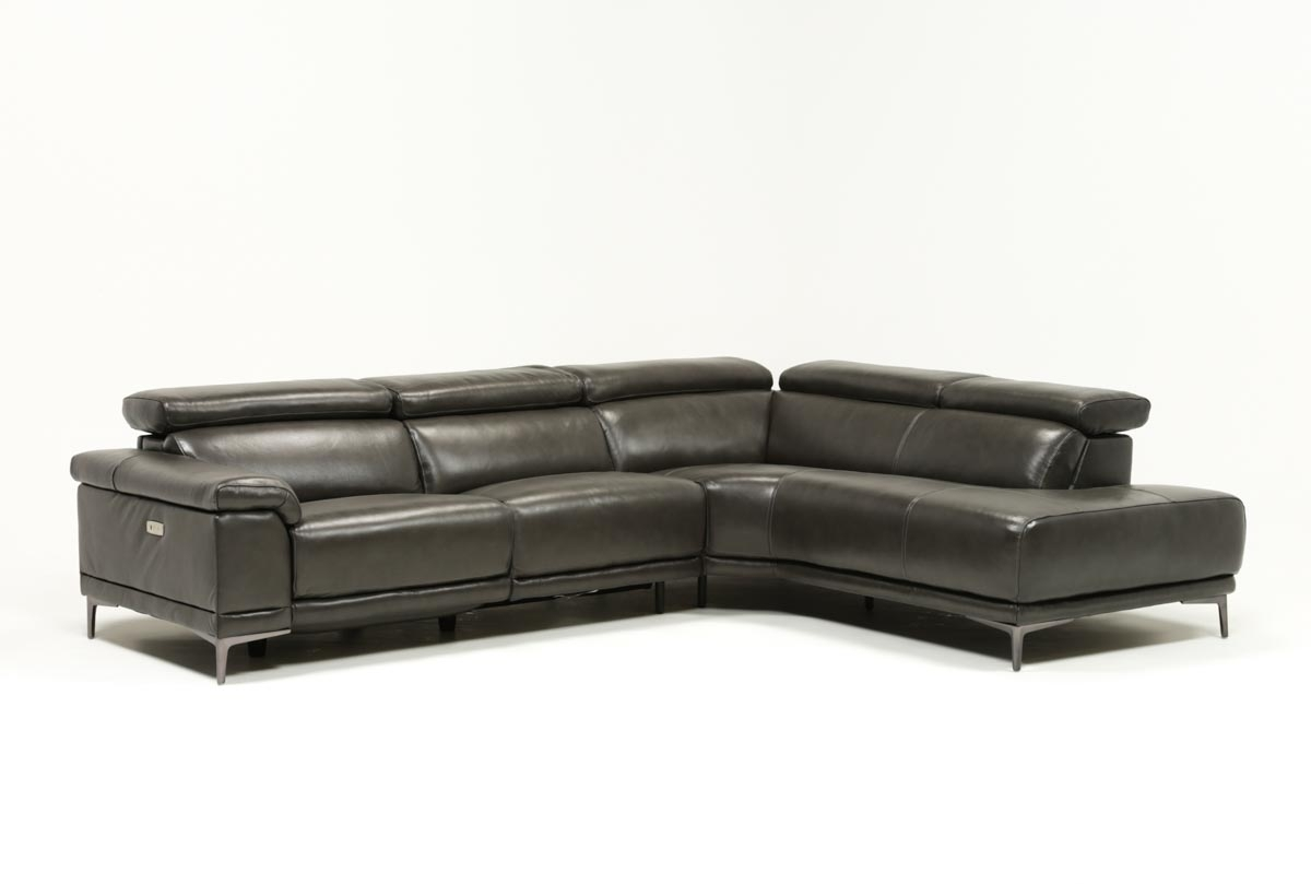 Tatum Dark Grey 2 Piece Sectional W/raf Chaise | Living Spaces intended for Tess 2 Piece Power Reclining Sectionals With Laf Chaise (Image 26 of 30)