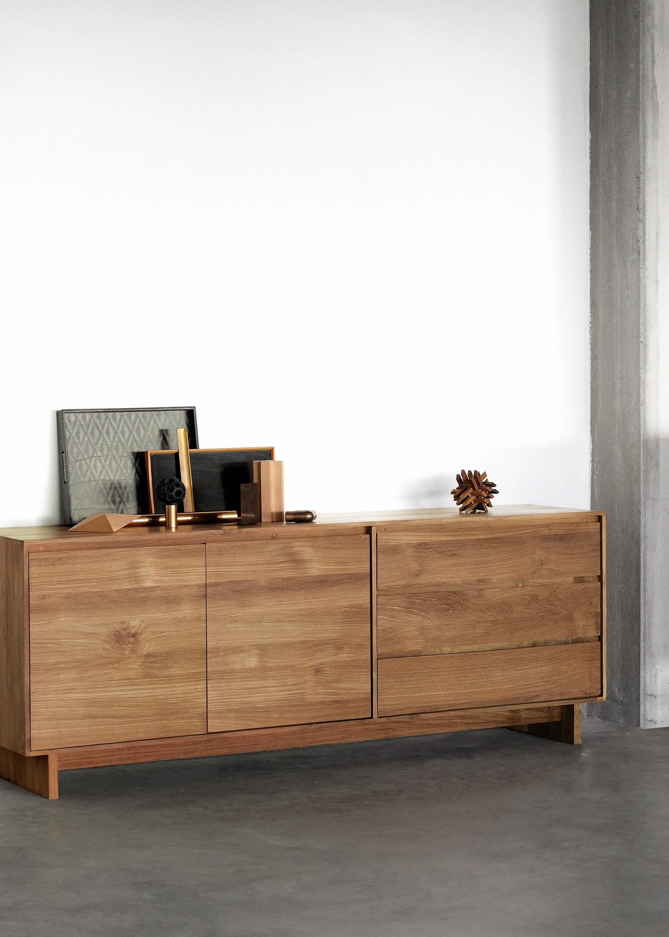 Teak Wave Sideboard - Sideboards From Ethnicraft | Architonic throughout Calhoun Sideboards (Image 21 of 30)
