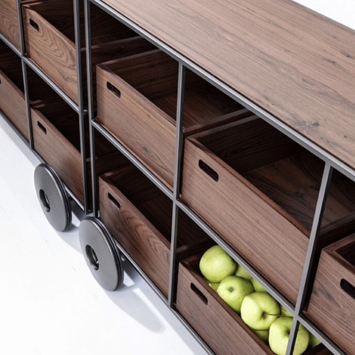 Teca Buffet Trolley - Sollos | Dedece throughout Parrish Sideboards (Image 27 of 30)