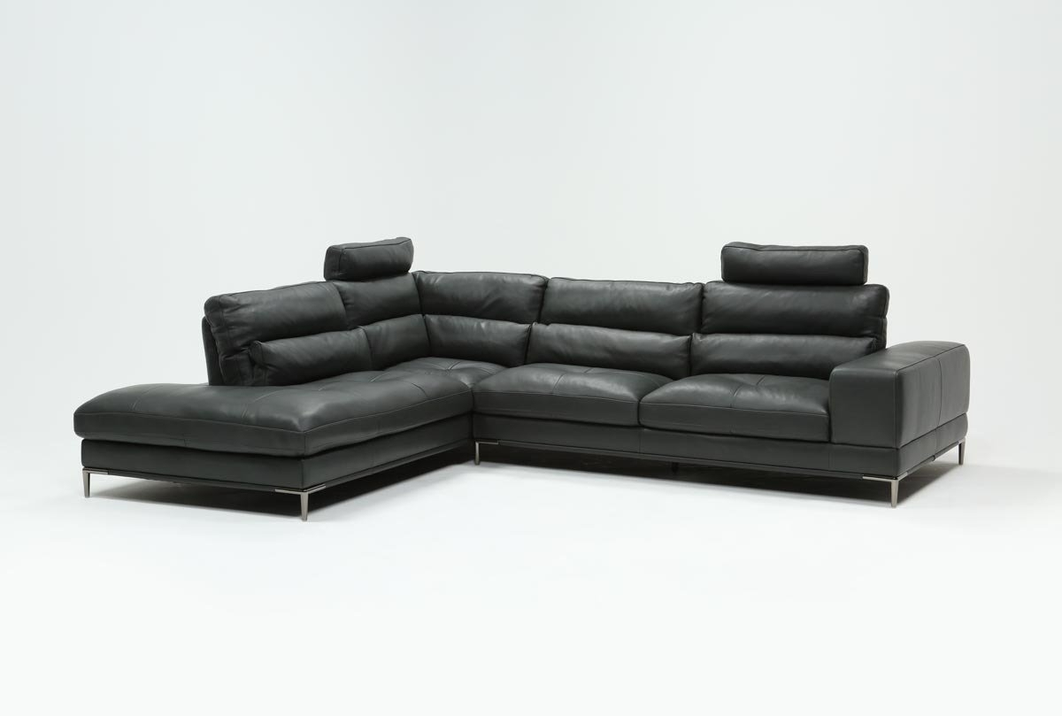 Featured Photo of Tenny Cognac 2 Piece Left Facing Chaise Sectionals With 2 Headrest