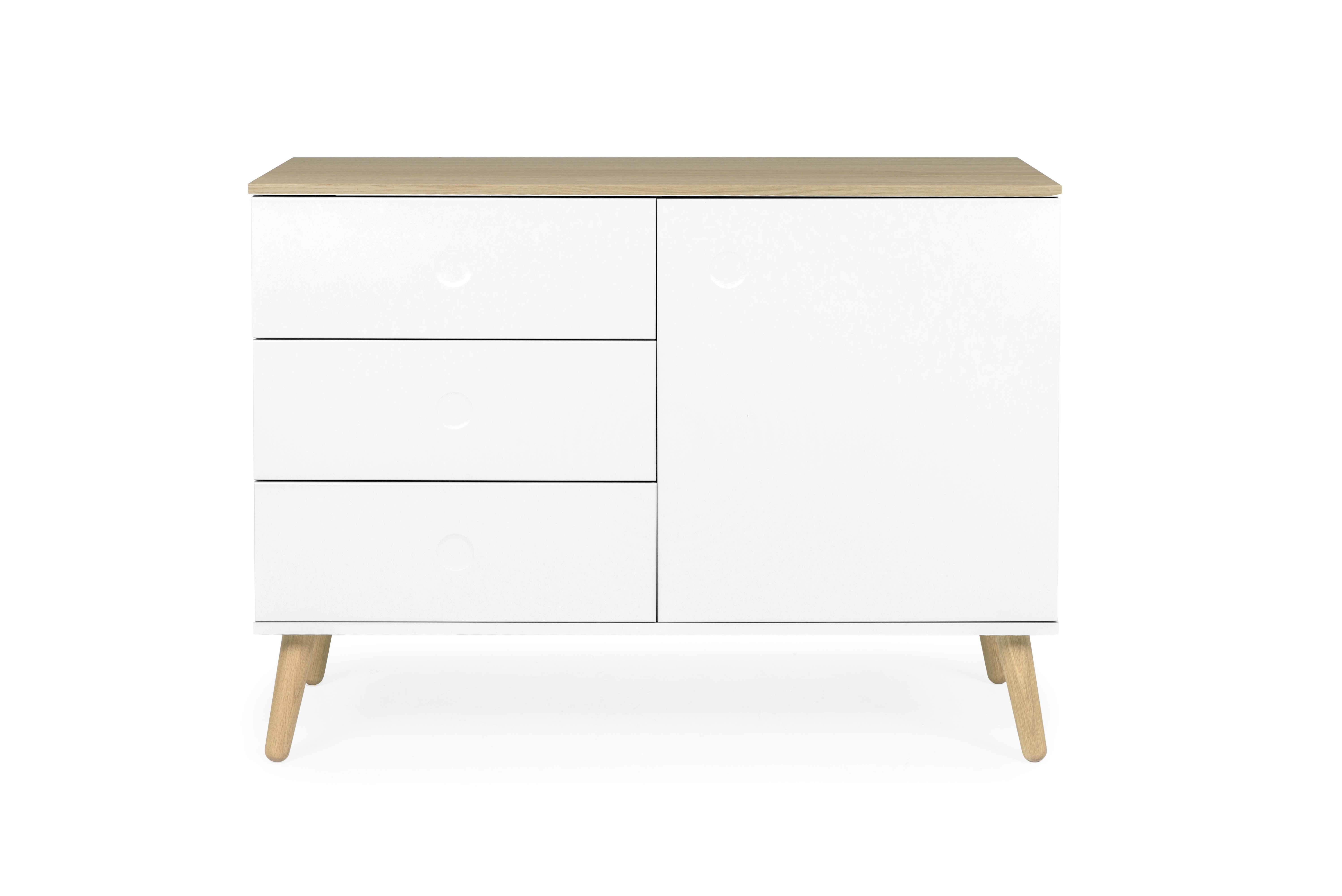 Tenzo Dot 1 Door 3 Drawer Sideboard & Reviews | Wayfair with Solar Refinement Sideboards (Image 27 of 30)