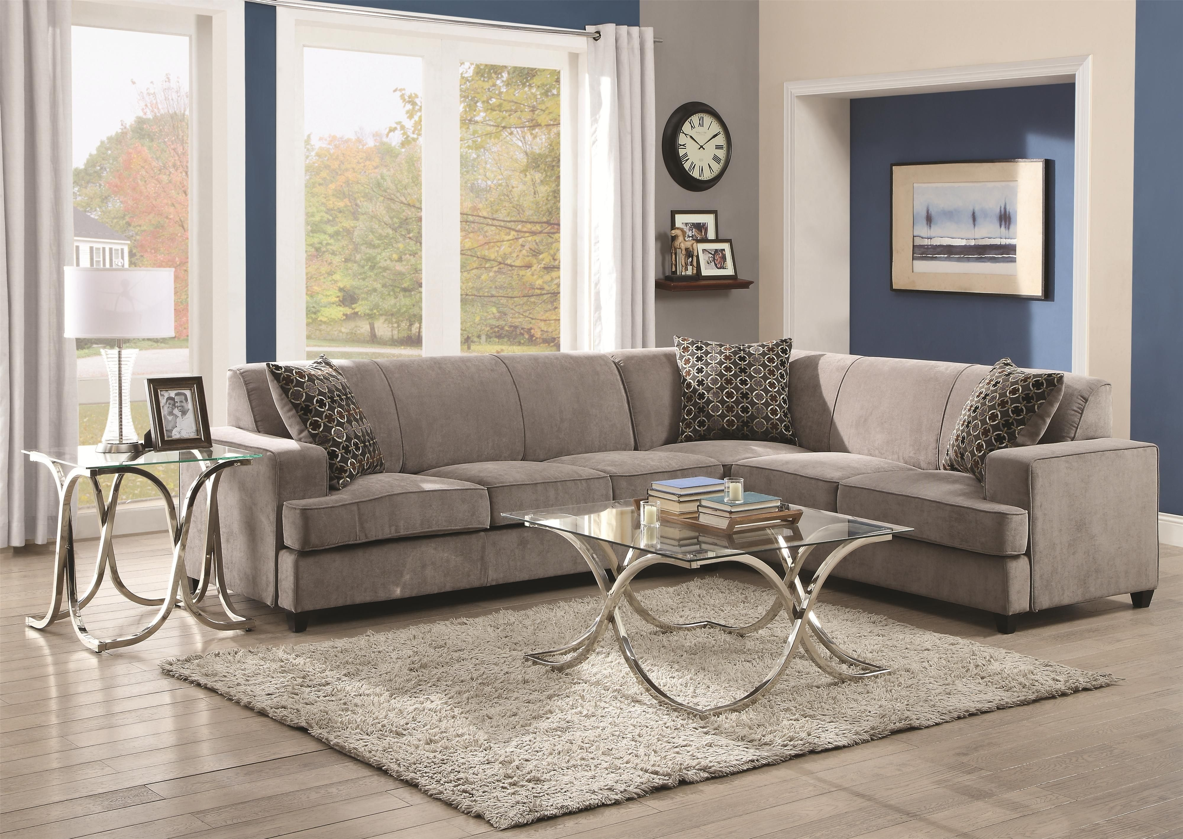 Tess Sectional Sofa For Cornerscoaster | Shades Of Grey in Norfolk Chocolate 6 Piece Sectionals With Raf Chaise (Image 30 of 30)