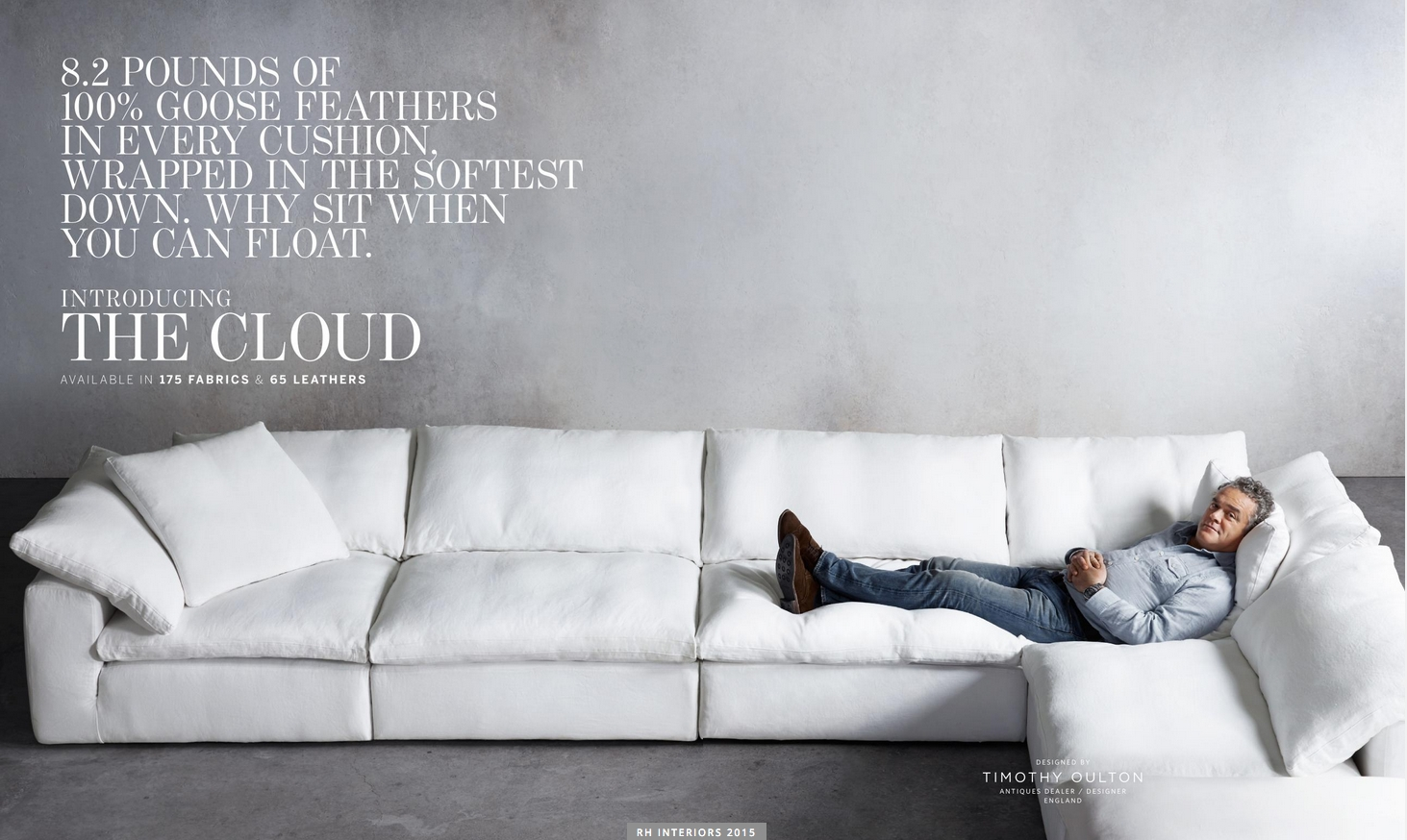 Test Road It Today! Love It! Gotta Have It! Restoration Hardware The throughout London Optical Reversible Sofa Chaise Sectionals (Image 30 of 30)