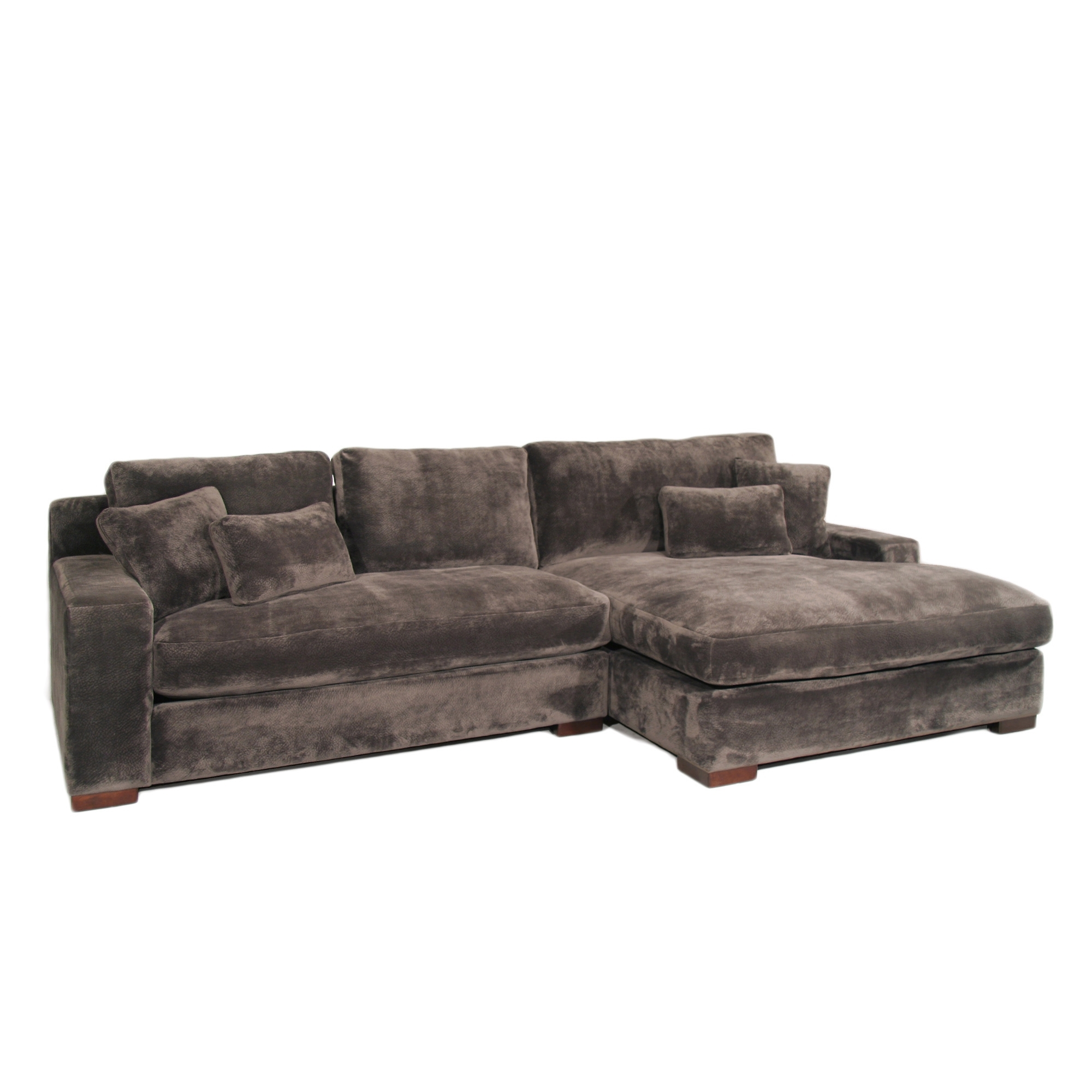 The Casual Contemporary Doris Two Piece Chaise Sectional Covered with regard to Delano Smoke 3 Piece Sectionals (Image 29 of 30)