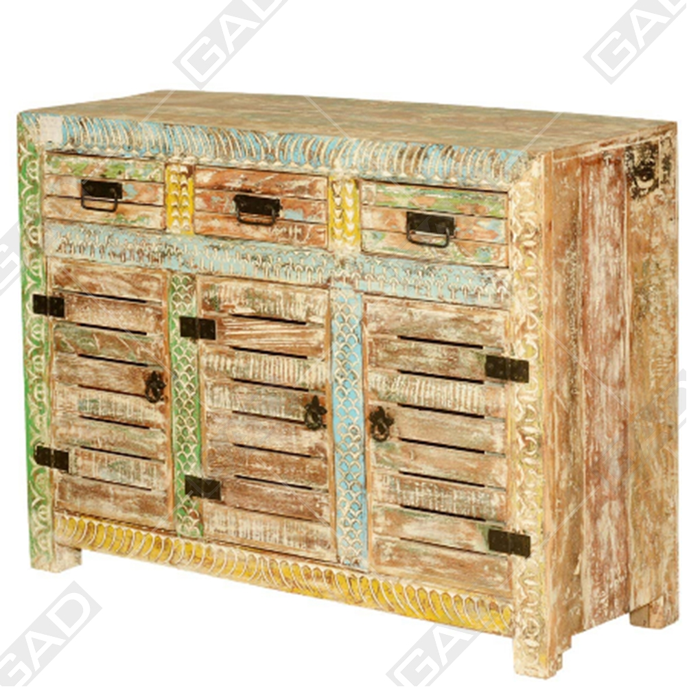 The Crass Sideboard – Reclaimed Wood Furniture Regarding Corrugated Natural 4 Drawer Sideboards (View 28 of 30)