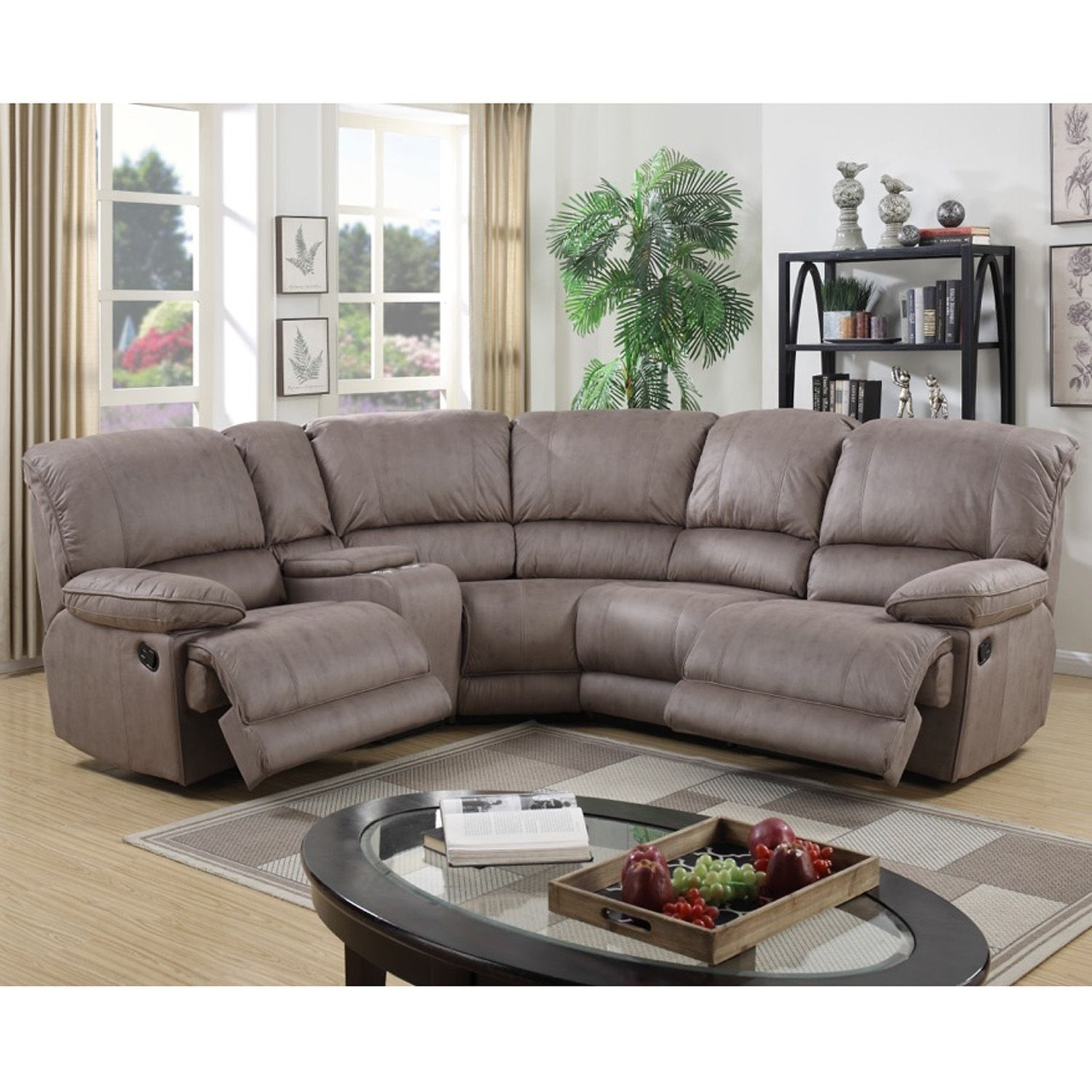 The Falkon Recliner Corner Sofa Is An Impressive And Stylish Suite with Marcus Chocolate 6 Piece Sectionals With Power Headrest And Usb (Image 28 of 30)