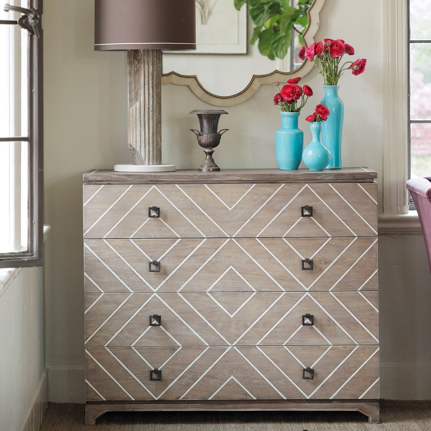 The Gabby Terrance Chest Introduces Transitional Style To within Geo Pattern Black and White Bone Inlay Sideboards (Image 28 of 30)