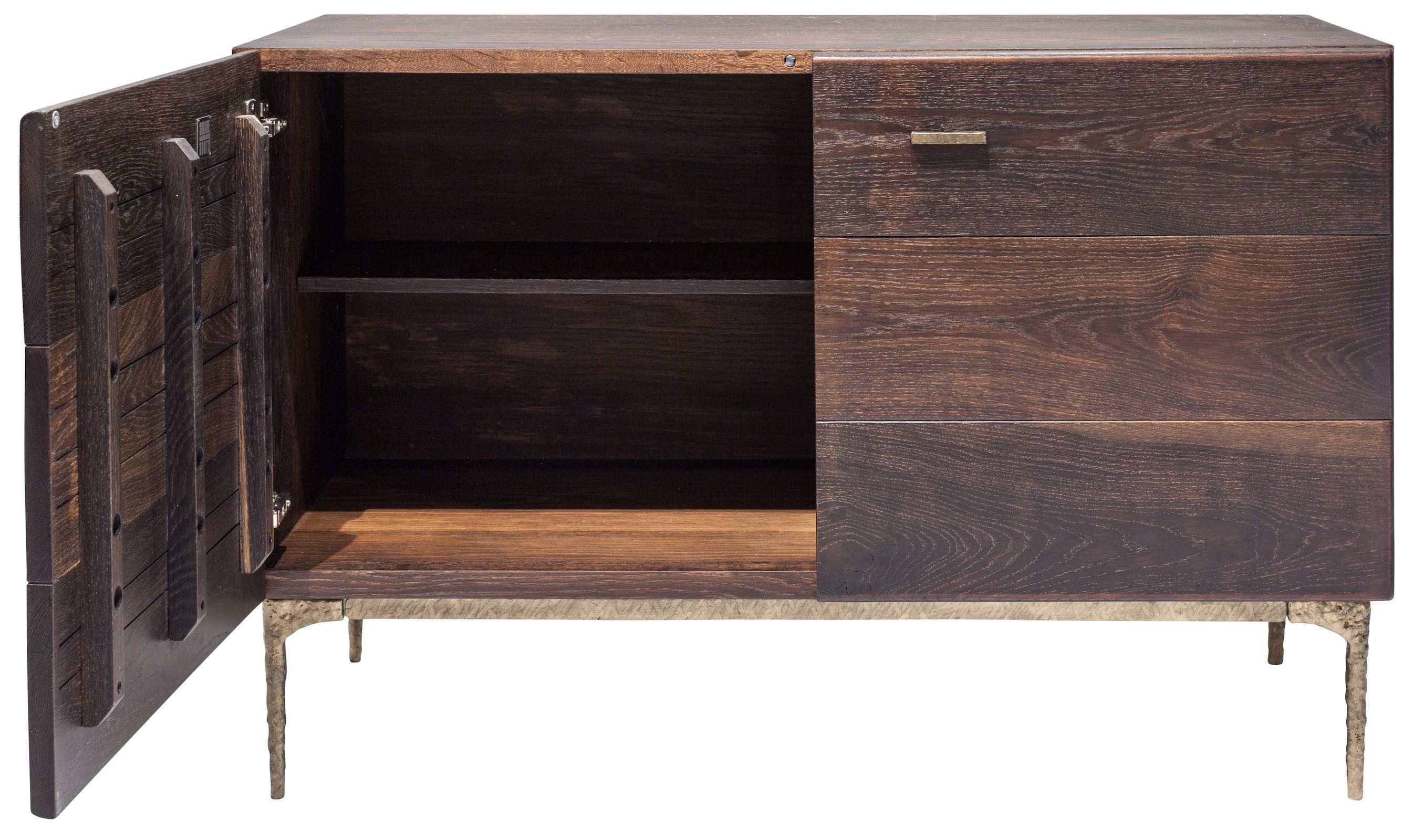 The Kulu Sideboard Buffet With Blackened Cast Iron Legs Features Fsc with regard to Black Oak Wood and Wrought Iron Sideboards (Image 28 of 30)