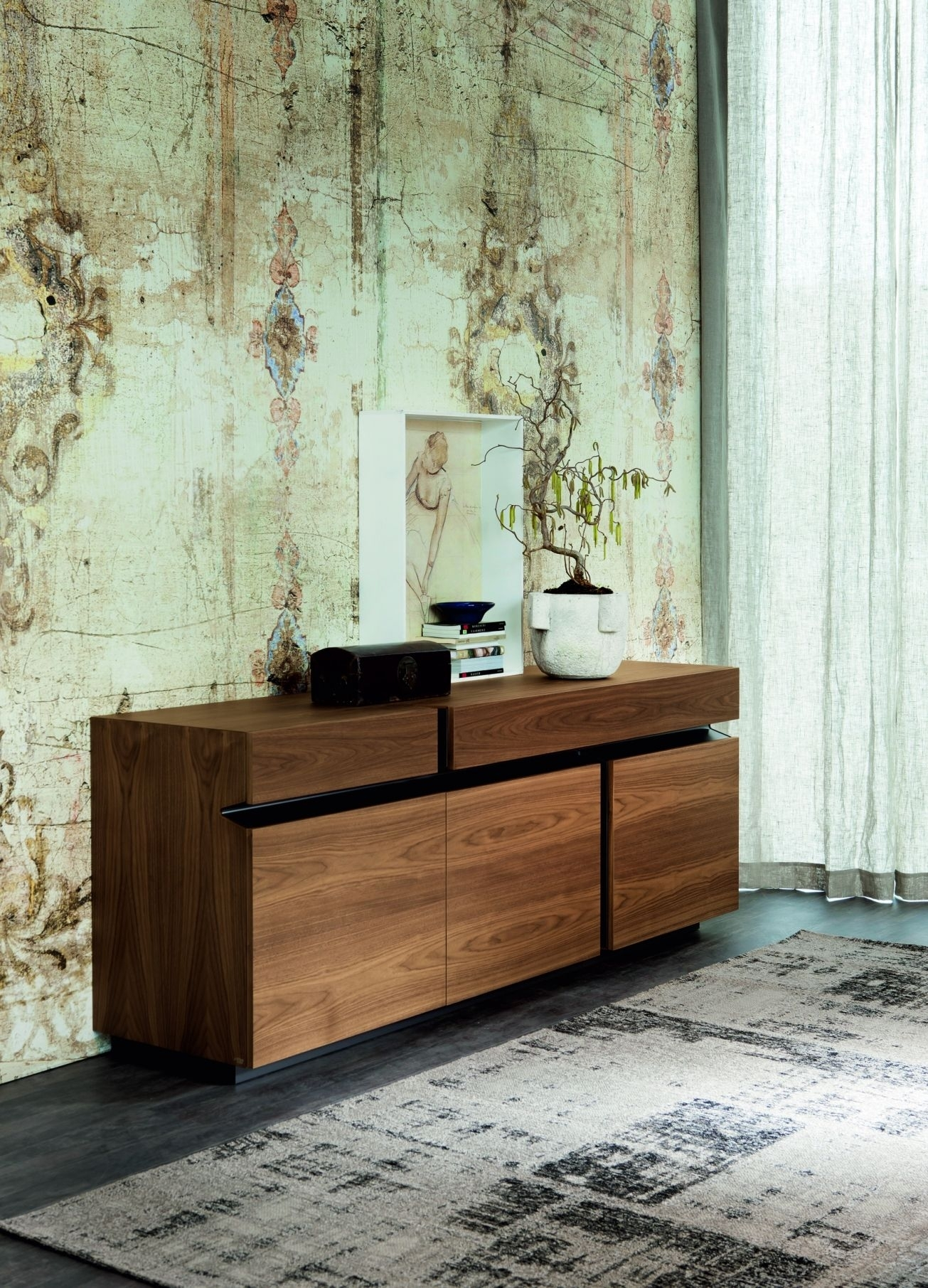 The Prisma Is A Striking Sideboard With 3 Doors And 2 Drawers pertaining to Black Burnt Oak Sideboards (Image 26 of 30)