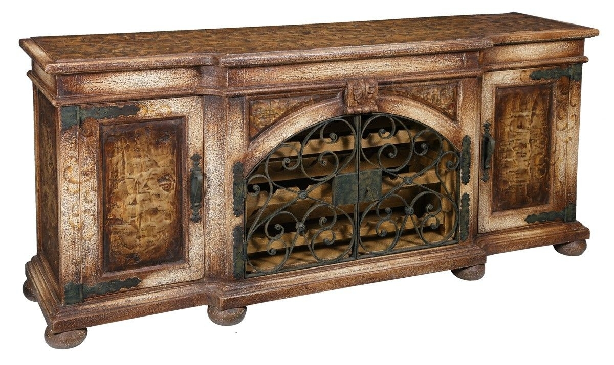 This Beautiful # Tuscan # Credenza Made With Recycled throughout Iron Pine Sideboards (Image 28 of 30)