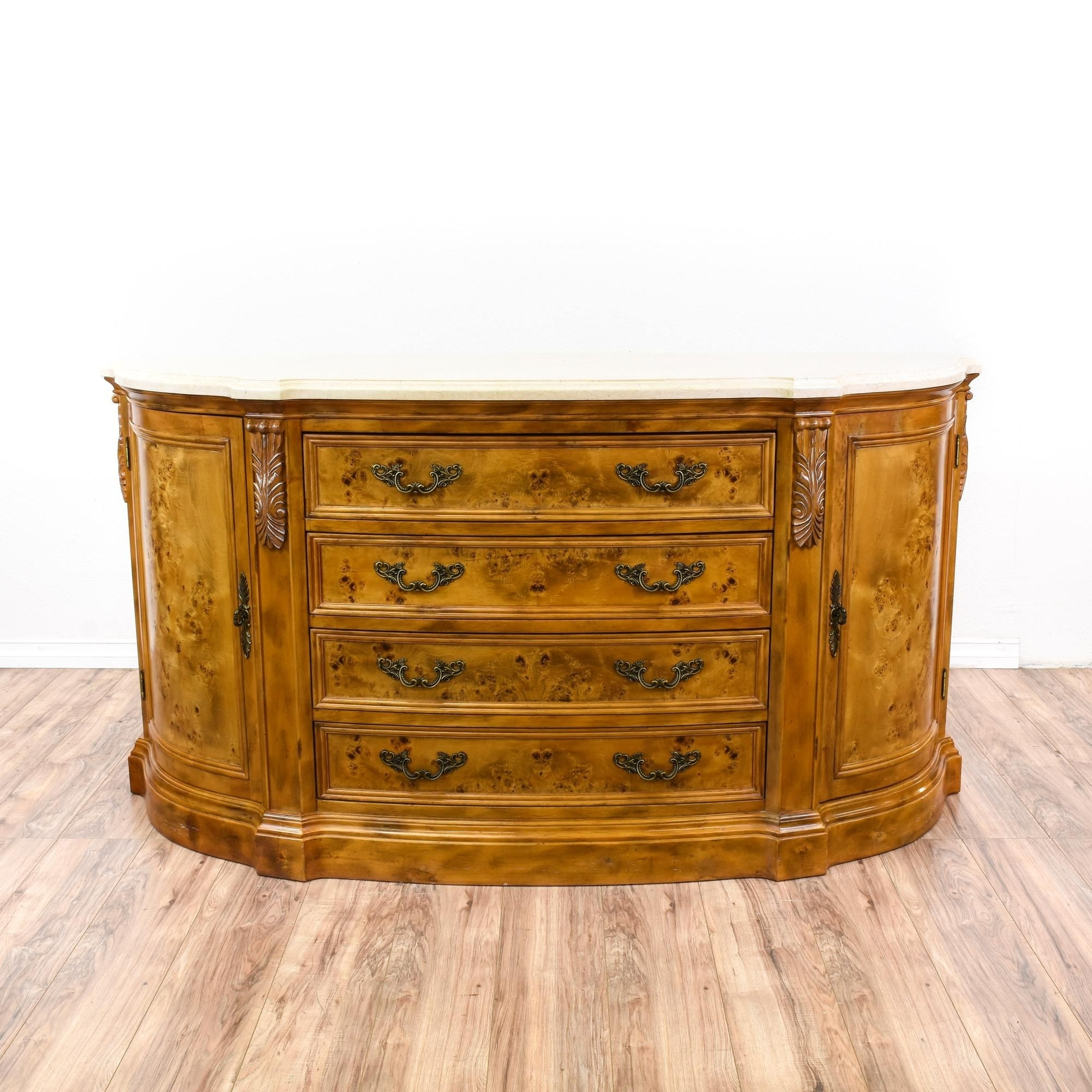 "This ""canterbury Home Furnishings"" Buffet Is Featured In A Solid intended for Antique Walnut Finish 2-Door/4-Drawer Sideboards (Image 28 of 30)"