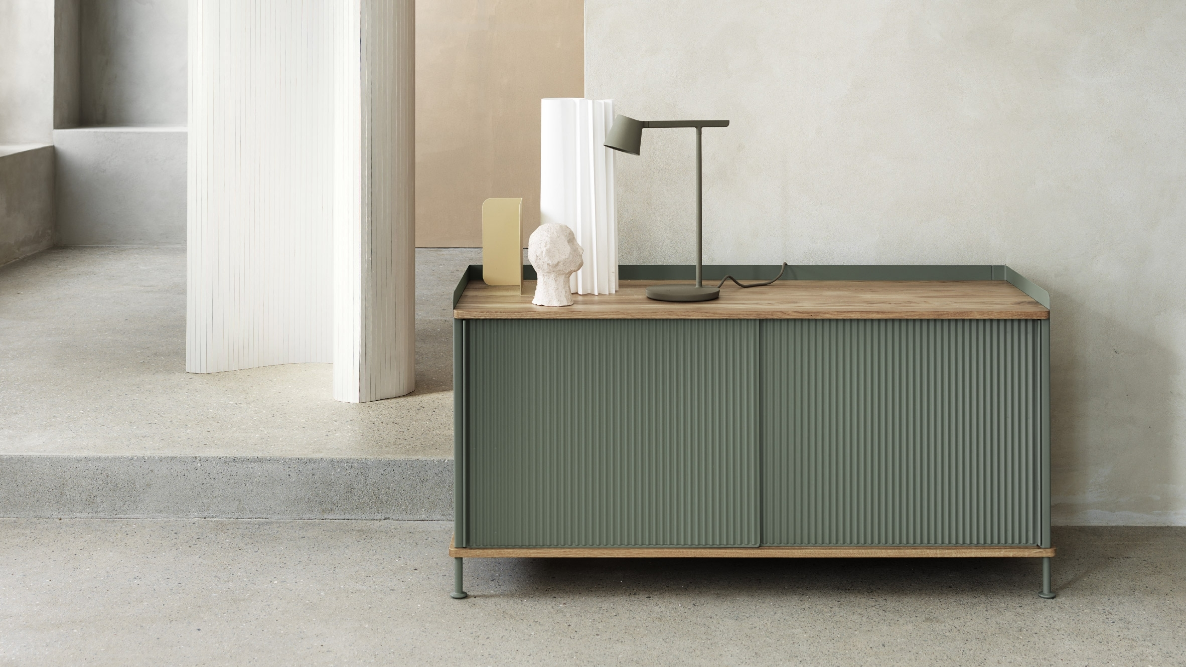 Thomas Bentzen Designs Factory-Inspired Sideboard For Muuto in Jigsaw Refinement Sideboards (Image 29 of 30)