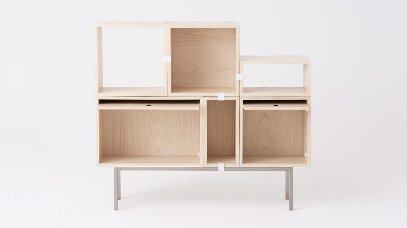 Tobi Shelving Units - Ash | Eq3 pertaining to Tobias 4 Door Sideboards (Image 21 of 30)