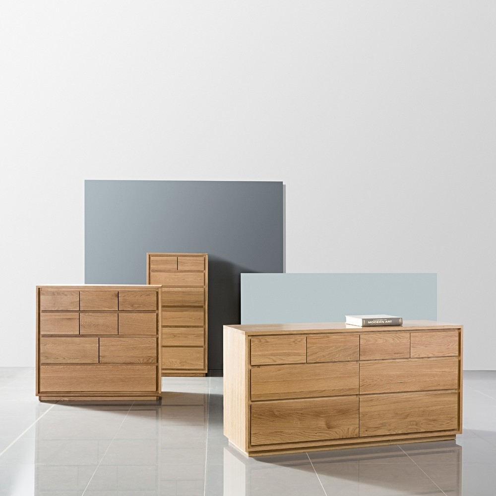 Tobias 8 Drawer Chest - Solid Oak - 150X45X76Cm - Icondesign pertaining to Tobias 4 Door Sideboards (Image 25 of 30)