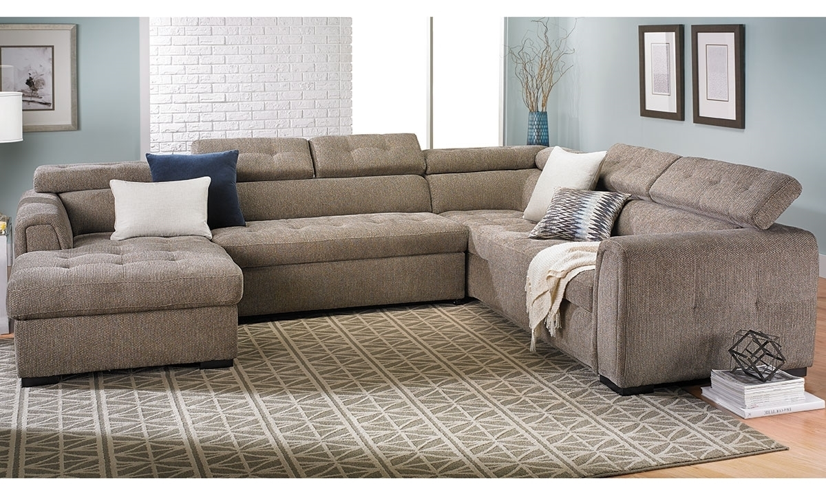 Toledo Contemporary Sleeper Storage Sectional | The Dump Luxe throughout Norfolk Grey 6 Piece Sectionals With Raf Chaise (Image 29 of 30)