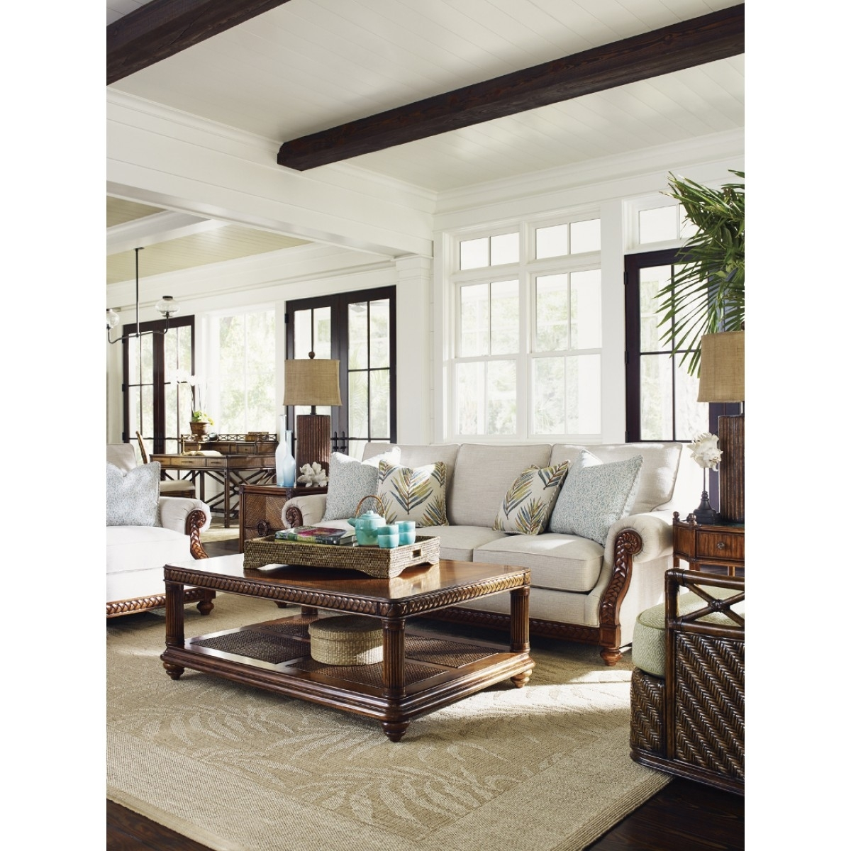 Tommy Bahama Home Bali Hai Shoreline Sofa Throughout Marcus Oyster 6 Piece Sectionals With Power Headrest And Usb (View 13 of 30)