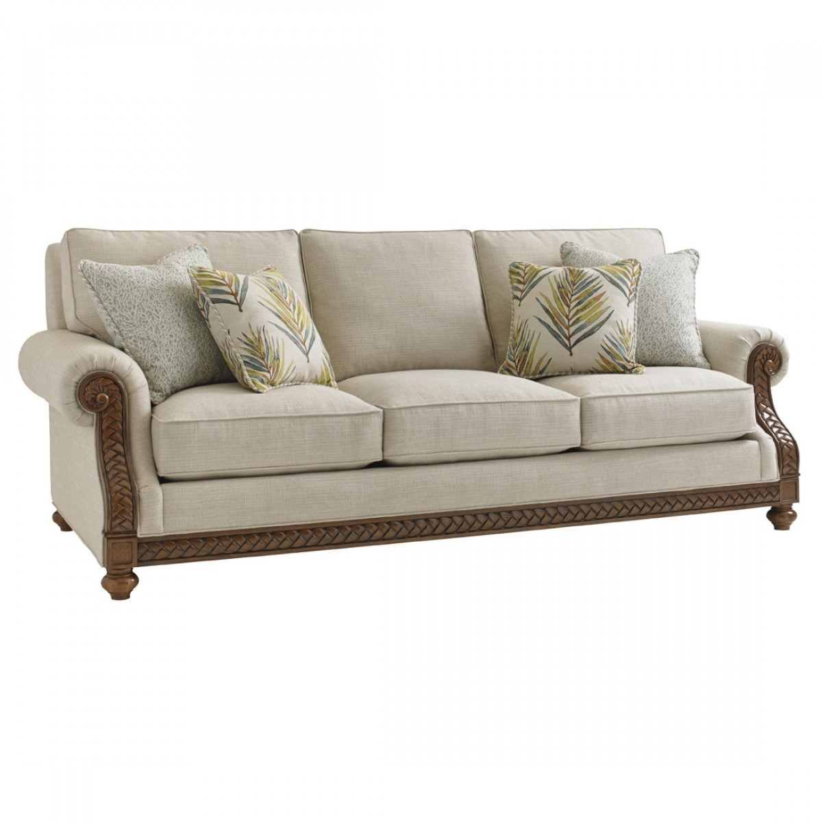 Tommy Bahama Home Bali Hai Shoreline Sofa With Regard To Marcus Oyster 6 Piece Sectionals With Power Headrest And Usb (View 6 of 30)