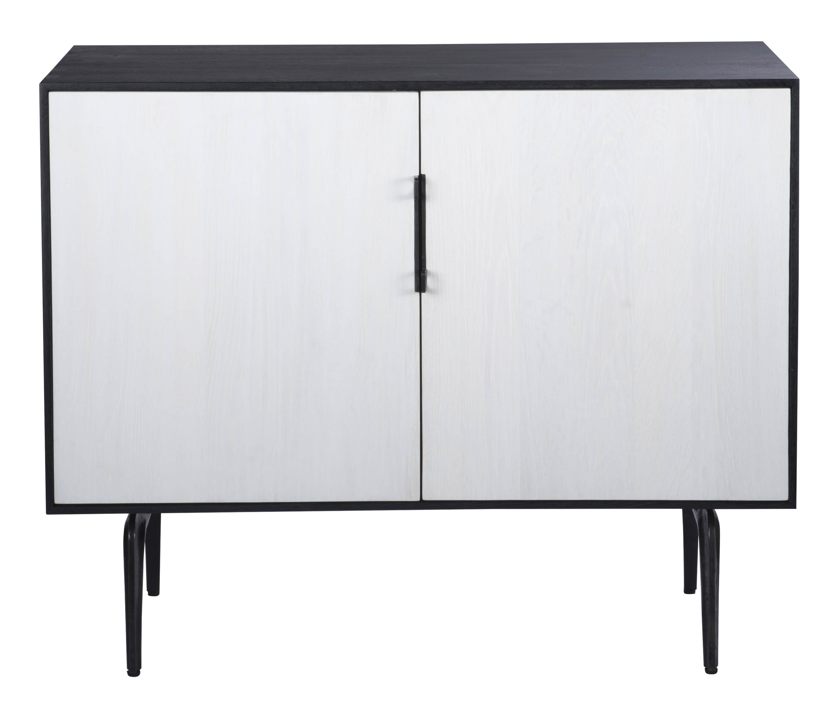 Toro Sideboard 2 Doors for Dark Smoked Oak With White Marble Top Sideboards (Image 28 of 30)