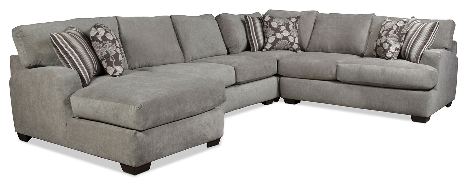 Torrey 4-Piece Left-Facing Sectional - Gray | with Josephine 2 Piece Sectionals With Raf Sofa (Image 30 of 30)