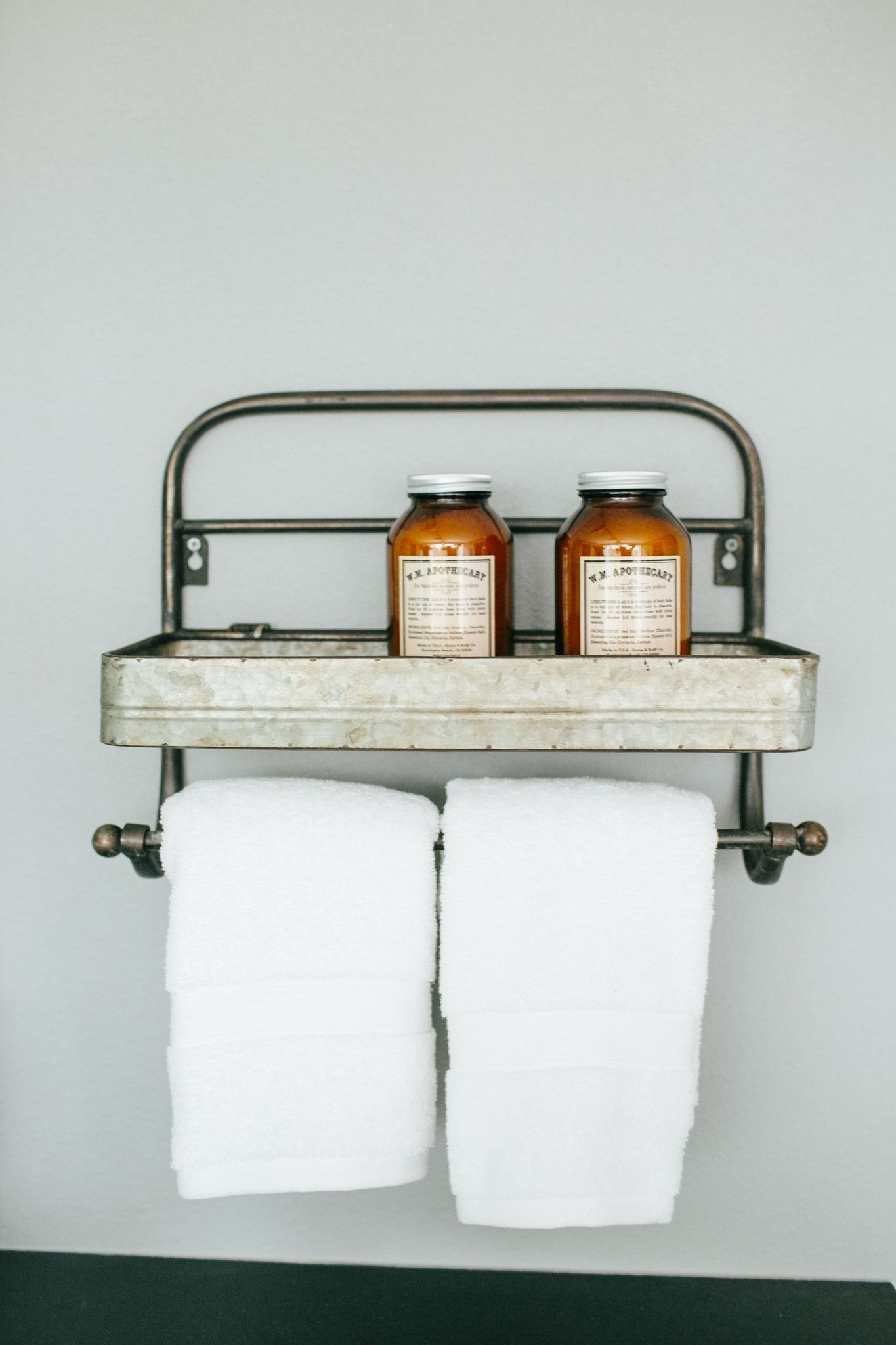 "Towel Rack From Magnolia Farms, 12 1/2"" Tall X 6 1/2"" Wide X 2"" Deep with regard to Magnolia Home Dylan Sideboards by Joanna Gaines (Image 29 of 30)"