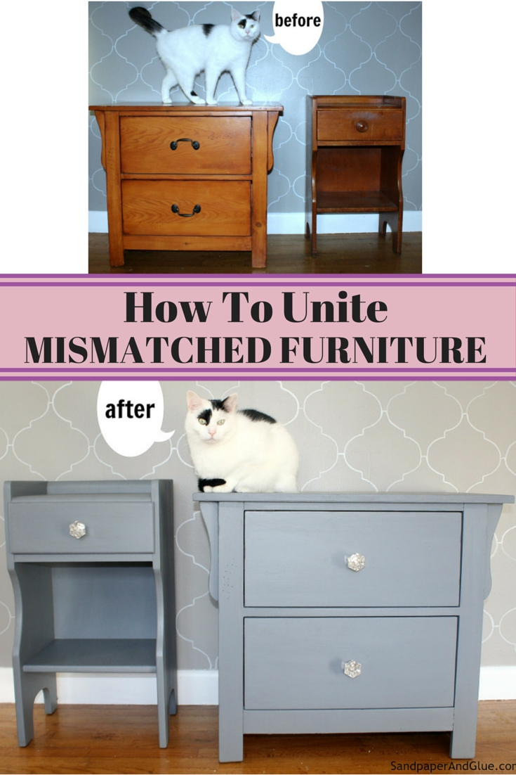 Transformed Mismatched Furniture Pieces Into A Cohesive Look With throughout Burnt Tannin 4 Door Sideboards (Image 29 of 30)