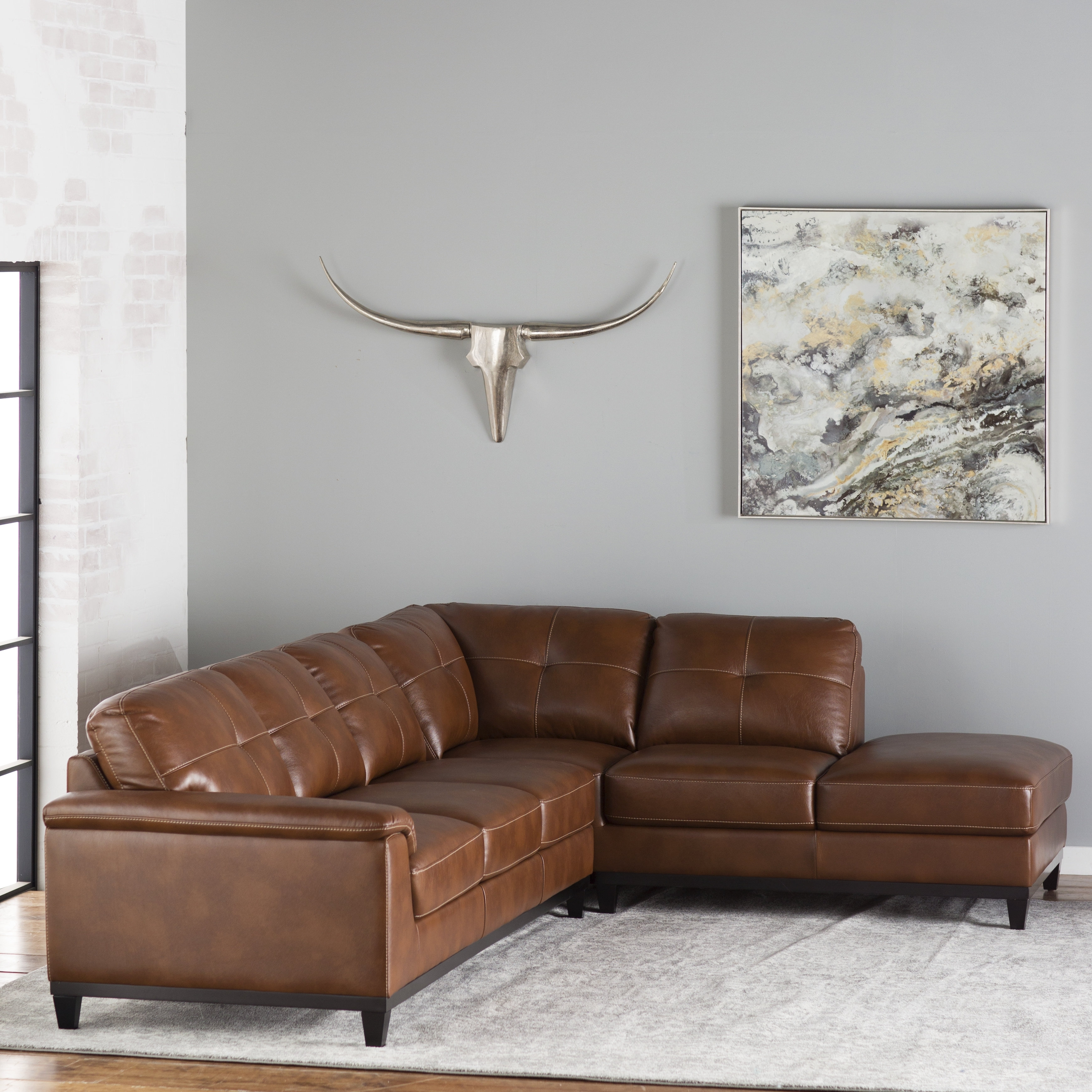 Trent Austin Design Lonato Sectional & Reviews | Wayfair pertaining to Karen 3 Piece Sectionals (Image 28 of 30)