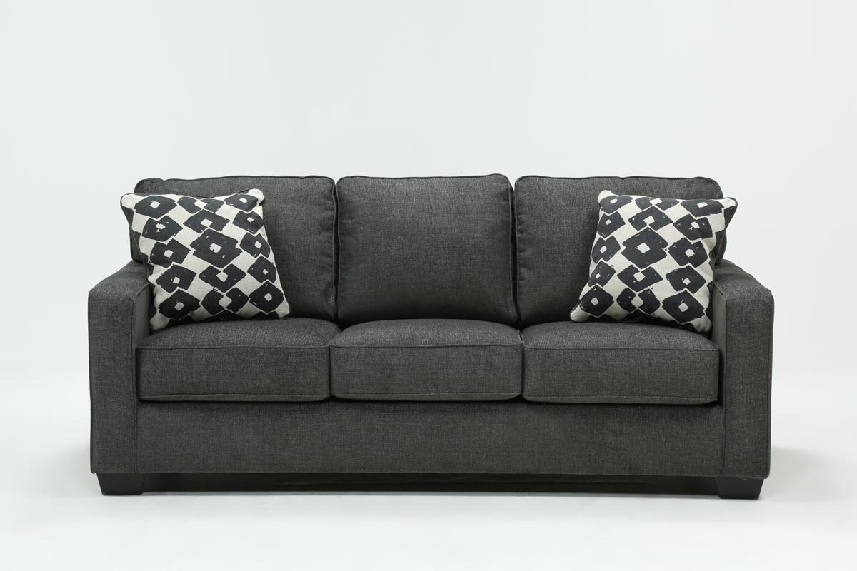 Turdur Queen Sofa Sleeper | Living Spaces with Mcdade Graphite 2 Piece Sectionals With Laf Chaise (Image 24 of 30)