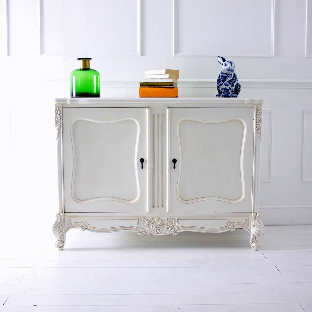 Two Door White French Sideboardout There Interiors inside 2-Door White Wash Sideboards (Image 24 of 30)