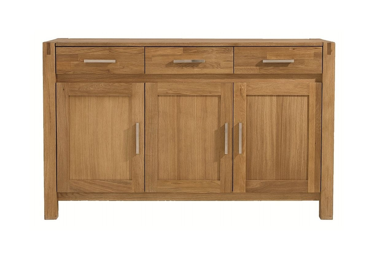 Unique - Royal Oak 3 Door Sideboard within 4-Door/4-Drawer Metal Inserts Sideboards (Image 29 of 30)
