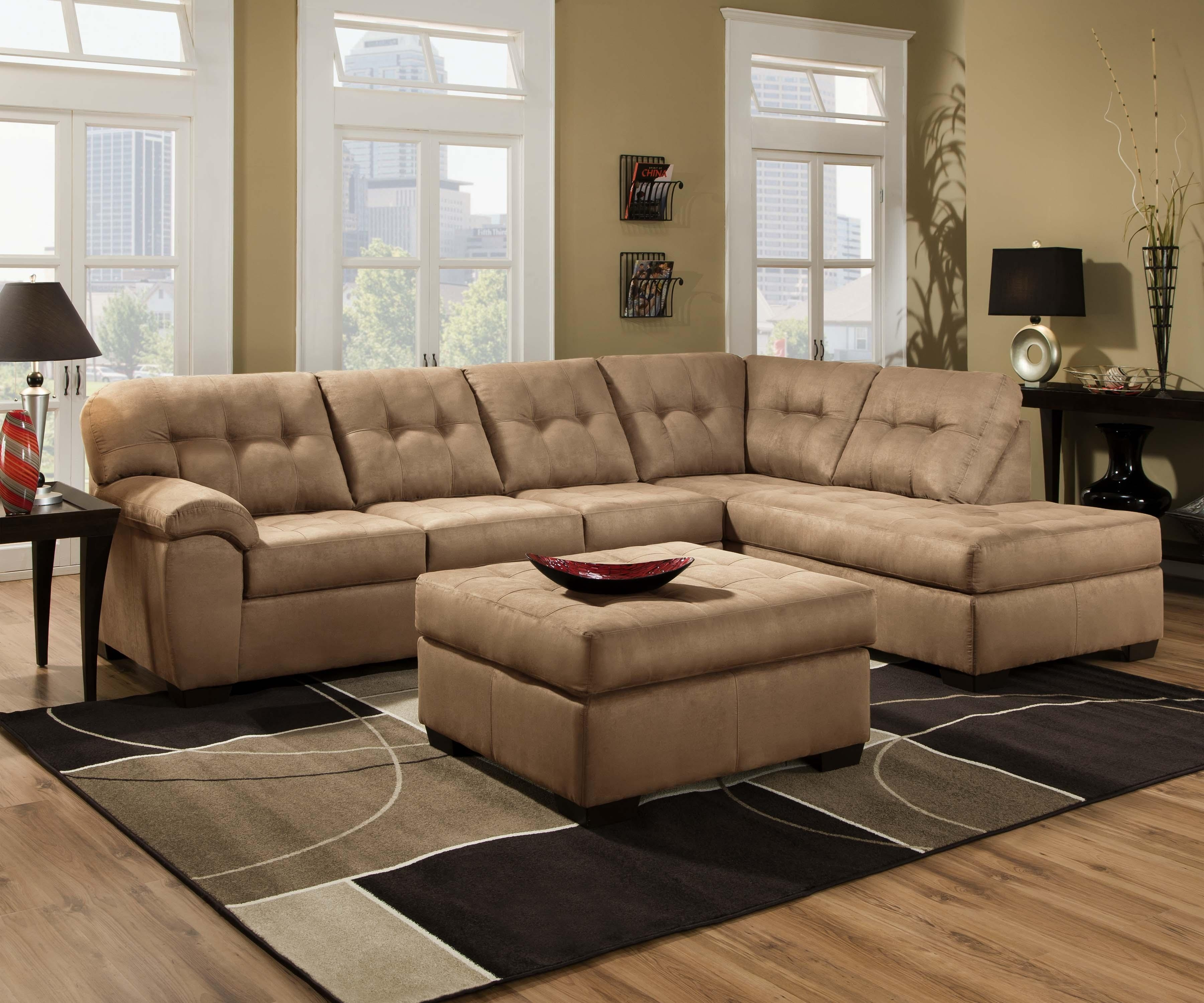 United Furniture Industries Transitional Piece Sectional Sofa With Regard To Sierra Down 3 Piece Sectionals With Laf Chaise (View 30 of 30)