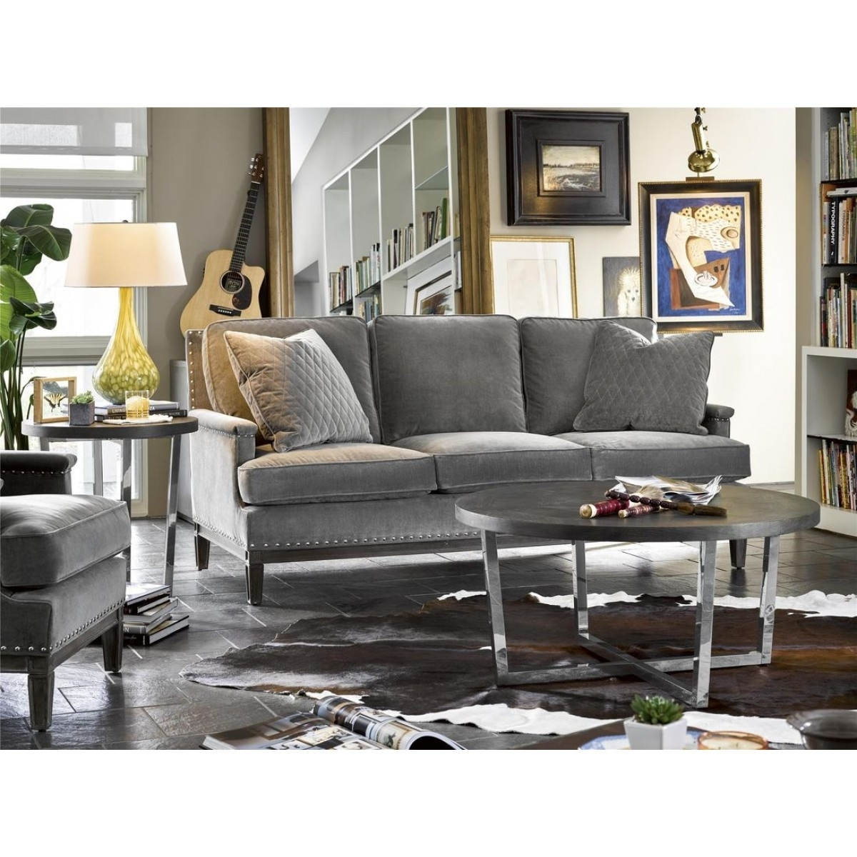 Universal Furniture Curated Dorchester Round Cocktail Table In Inside Marcus Oyster 6 Piece Sectionals With Power Headrest And Usb (View 10 of 30)