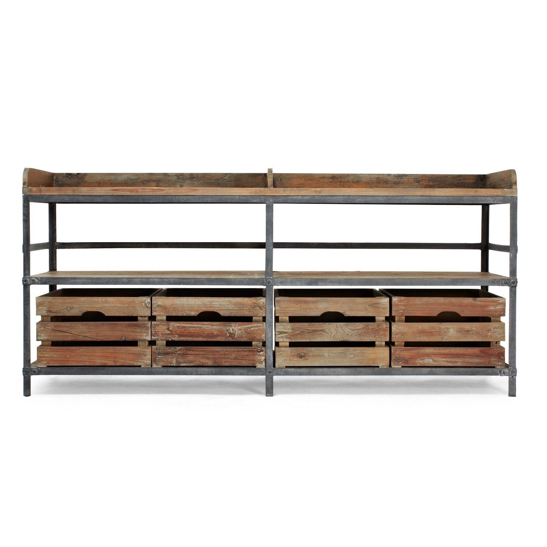 Urbn 2.0 Reclaimed Pine & Metal Sideboard | Dining Room | Pinterest throughout Metal Framed Reclaimed Wood Sideboards (Image 29 of 30)