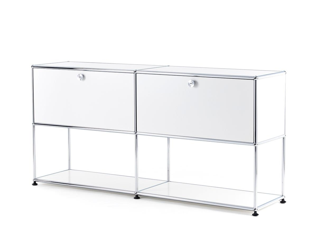 Usm Haller Sideboard L With 2 Drop-Down Doors, Lower Tier Structure intended for Girard 4 Door Sideboards (Image 24 of 30)