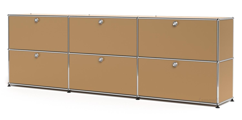 Usm Haller Sideboard Xl, Customisable, Usm Beige, With 3 Drop-Down intended for 4-Door 4-Drawer Metal Inserts Sideboards (Image 28 of 30)