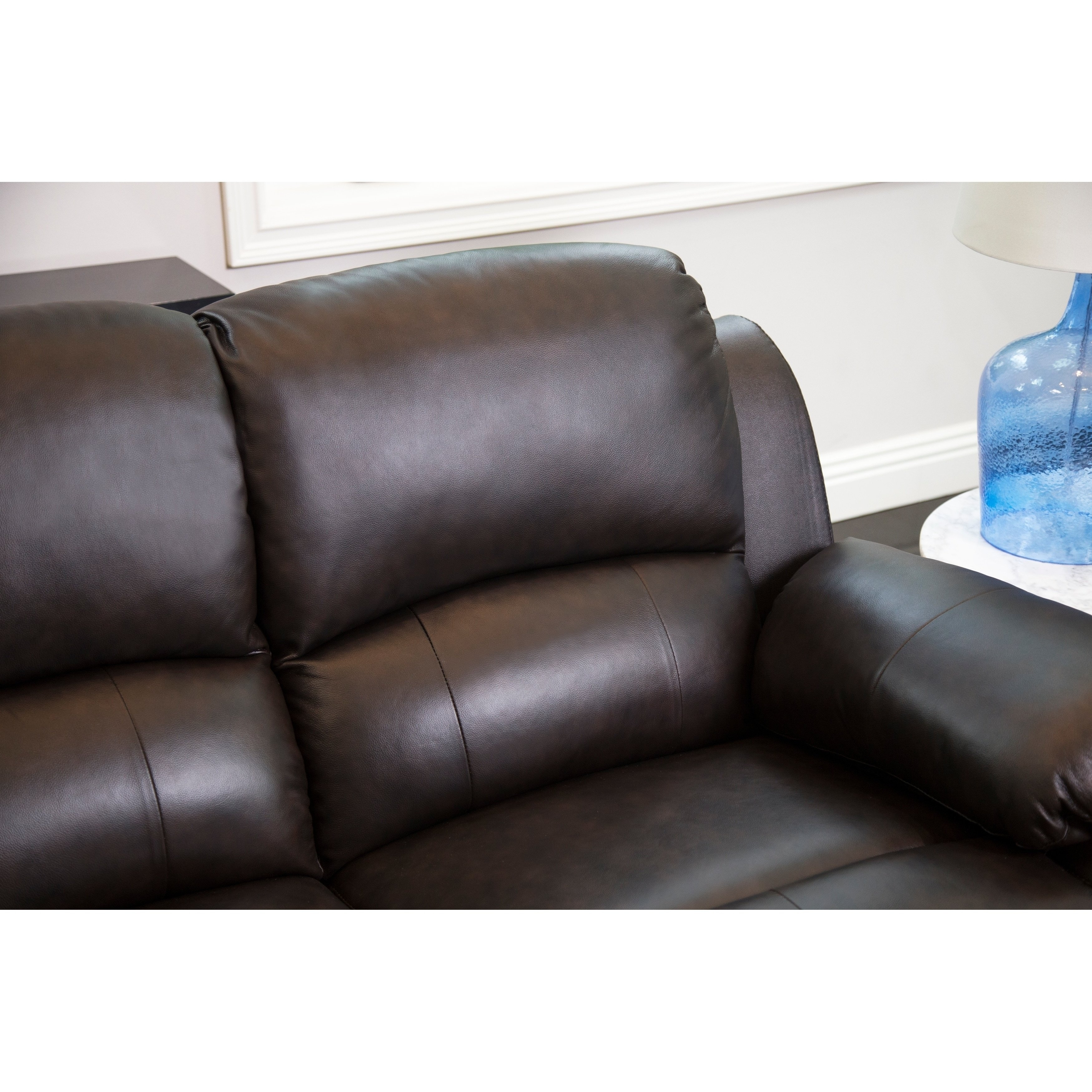 Vast 25 Genuine Leather Reclining Sectional Ideal throughout Burton Leather 3 Piece Sectionals With Ottoman (Image 27 of 30)