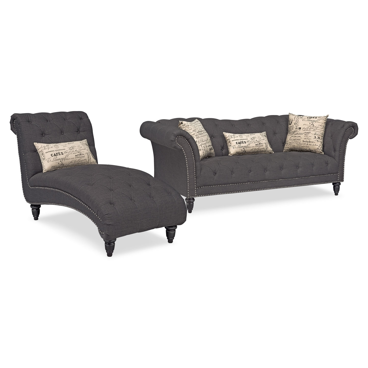 Vcf Sofa Chaise | Baci Living Room throughout Mcdade Graphite 2 Piece Sectionals With Laf Chaise (Image 26 of 30)