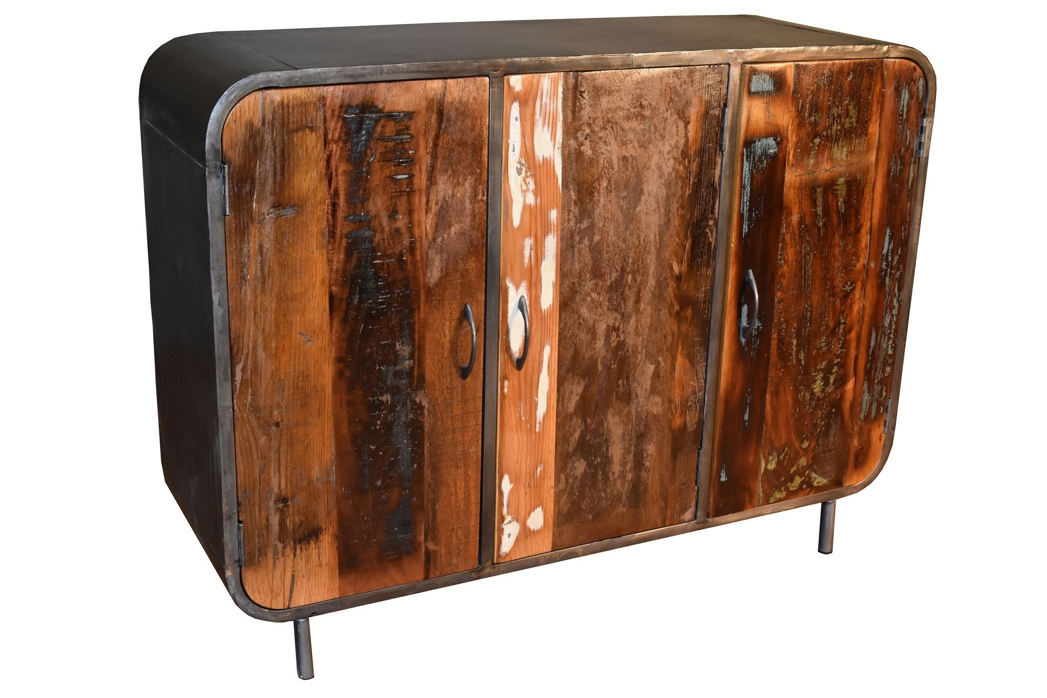 Ventura Solid Wood 3 Door Sideboard - Reclaimed Wood | Solid Wood inside Reclaimed Sideboards With Metal Panel (Image 27 of 30)