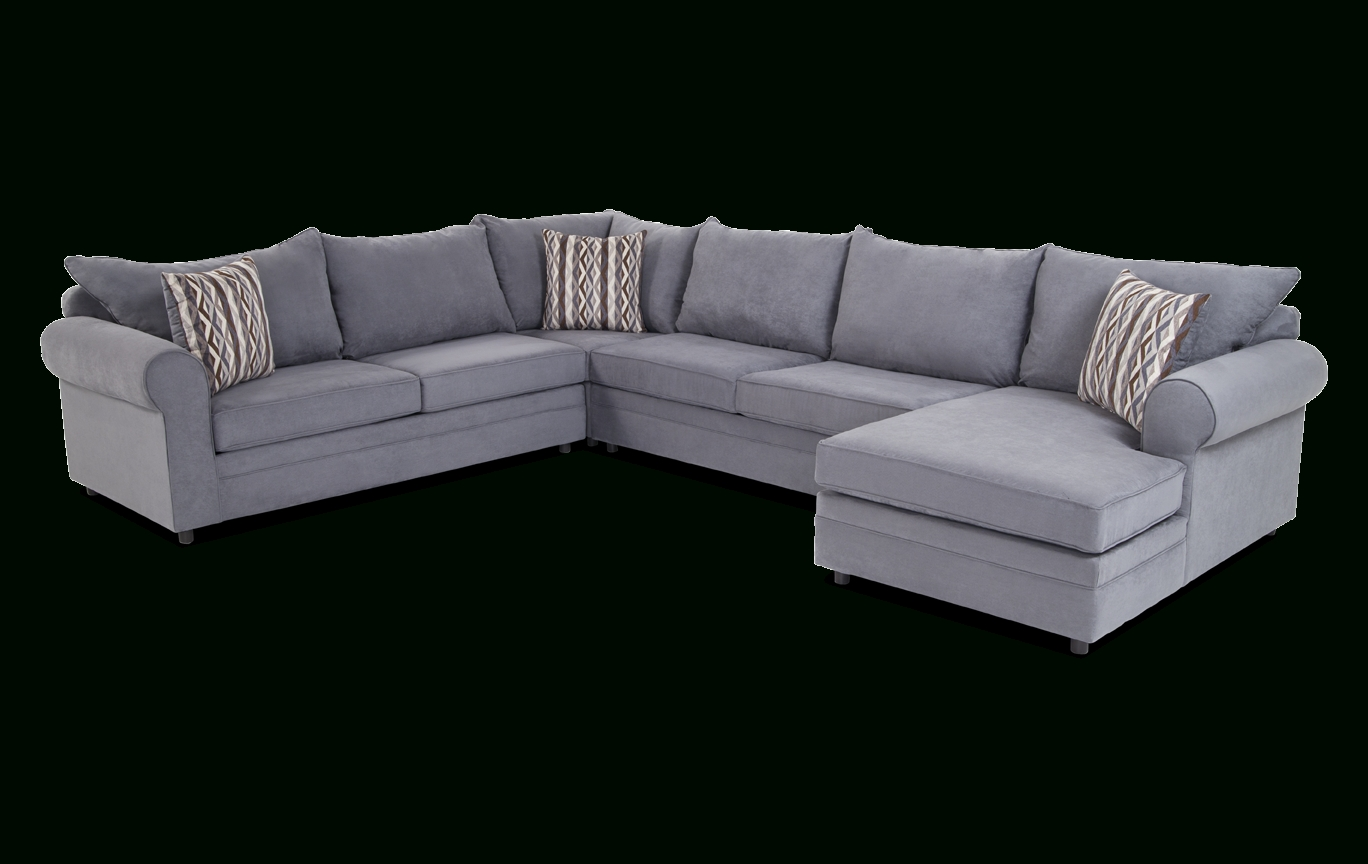 Venus 4 Piece Left Arm Facing Sectional | Bob's Discount Furniture regarding Aquarius Light Grey 2 Piece Sectionals With Laf Chaise (Image 30 of 30)