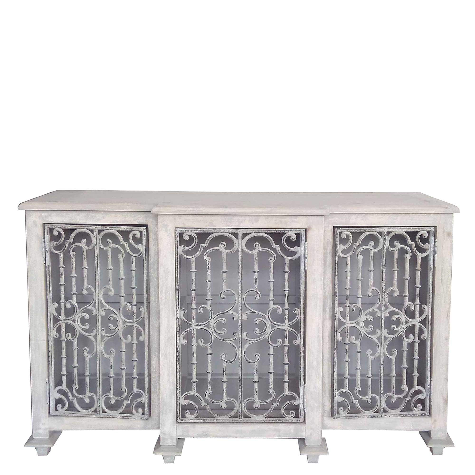 Versaille Reclaimed Wood And Cast Iron Sideboard, Pine | Sideboards Inside Iron Sideboards (View 29 of 30)
