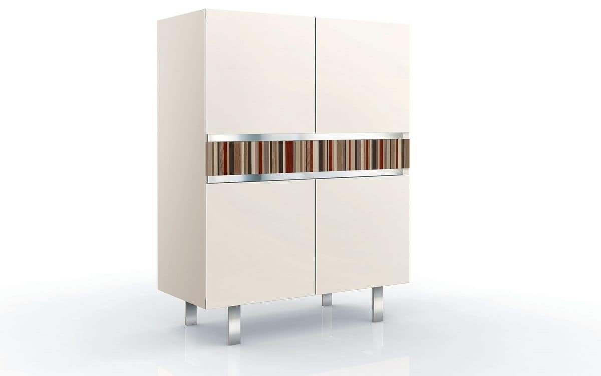 Vertical Cupboard With 2 Doors, Ideal For Elegant Environments pertaining to Ironwood 4-Door Sideboards (Image 29 of 30)