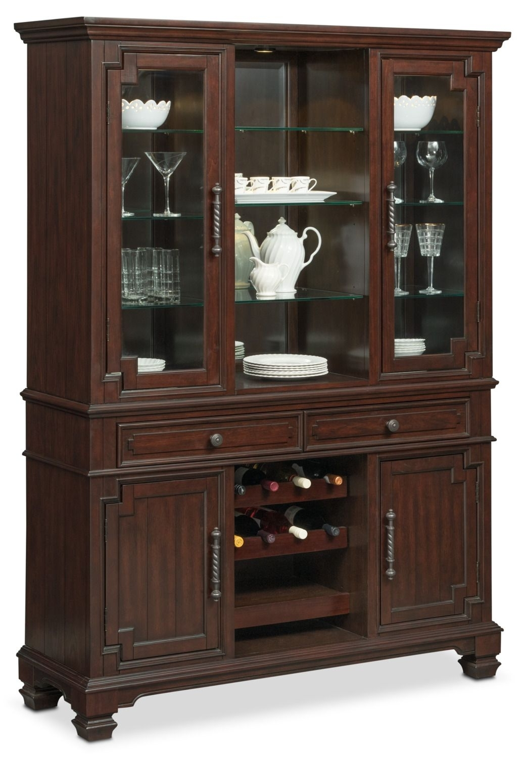 Vienna Buffet And Hutch - Merlot | Pinterest | Vienna, Buffet And with regard to Norwood Sideboards (Image 23 of 30)