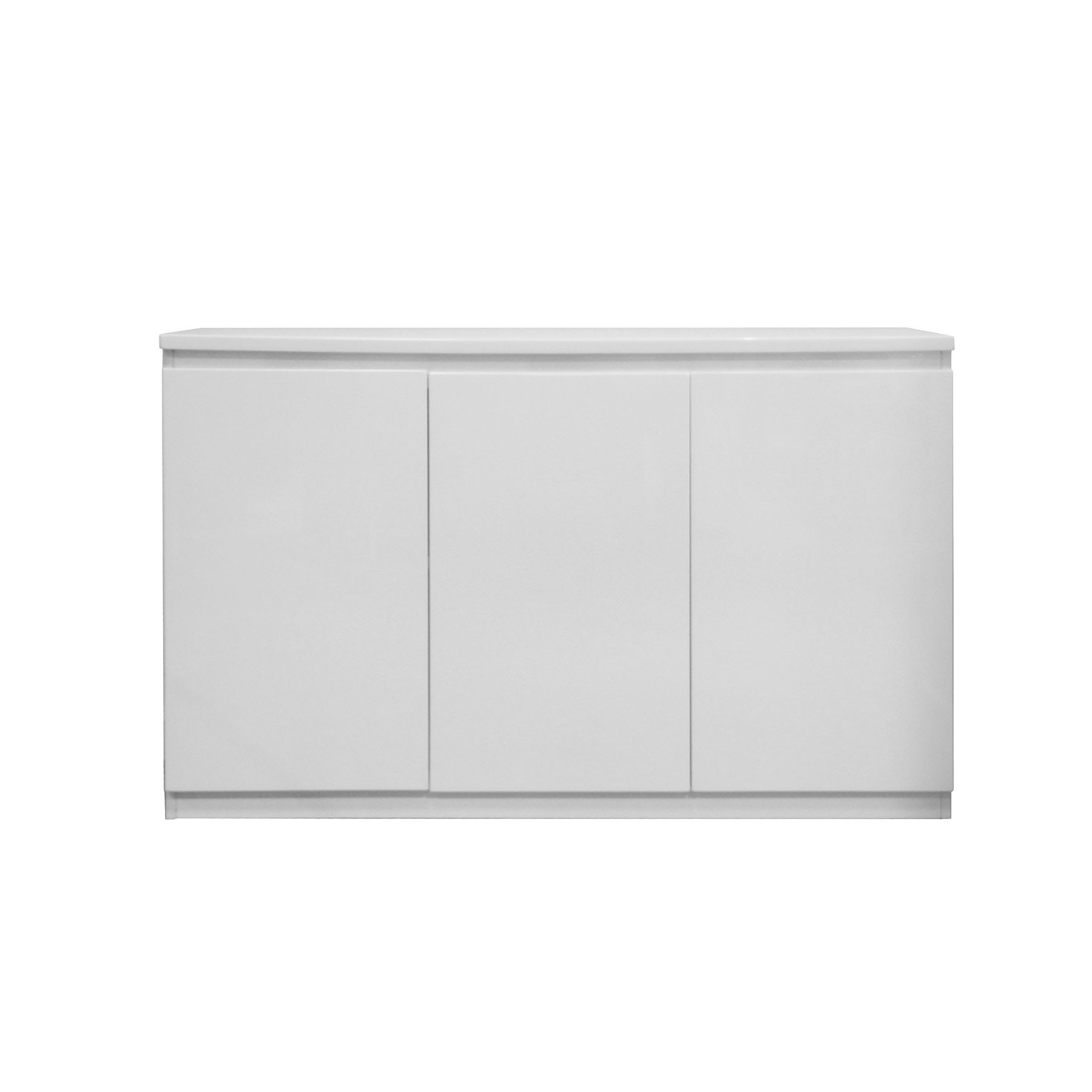 Vigo High Gloss White 3 Door Sideboard with White Wash 3-Door 3-Drawer Sideboards (Image 26 of 30)