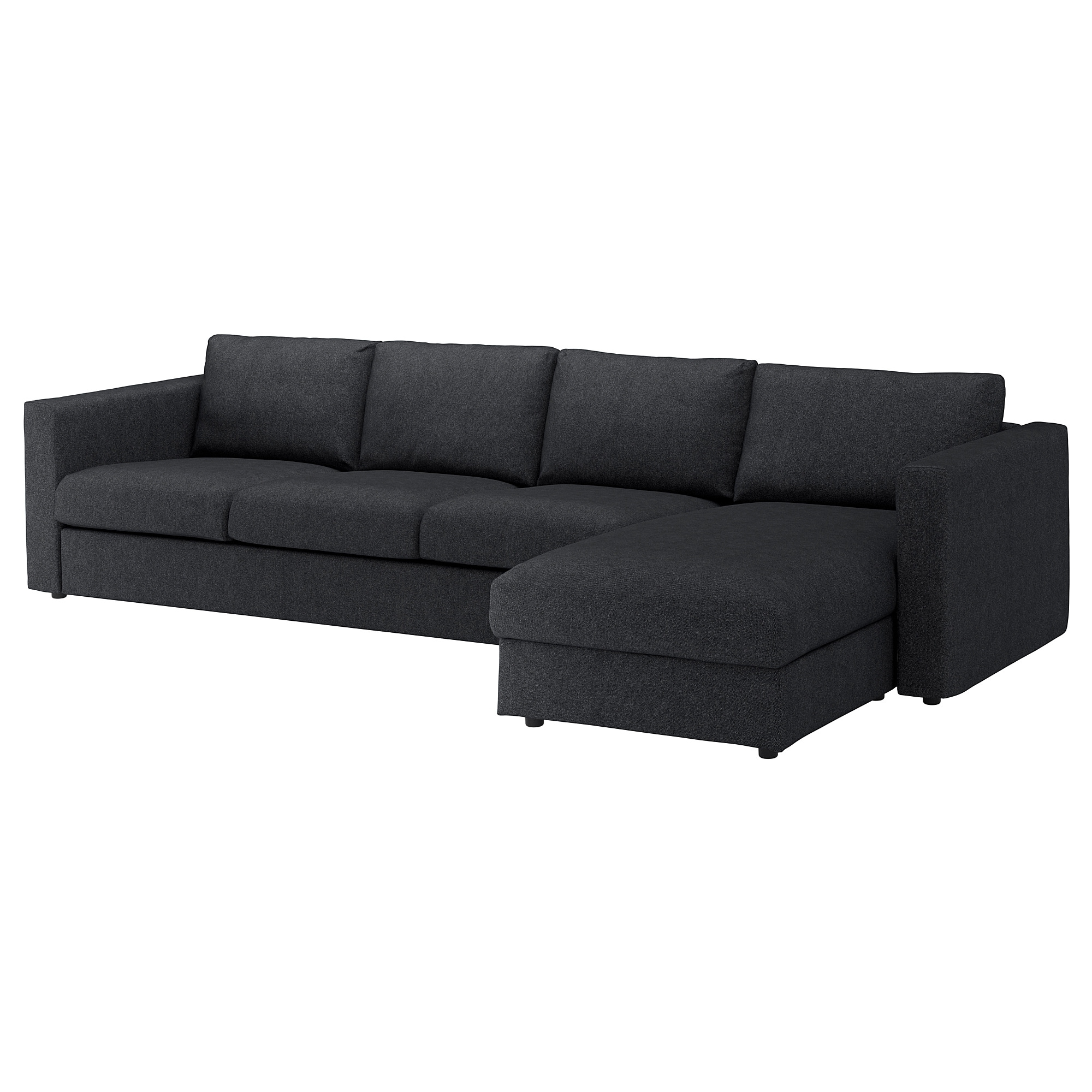 Vimle Sectional, 4-Seat - With Chaise/tallmyra Black/gray - Ikea pertaining to Norfolk Grey 6 Piece Sectionals (Image 30 of 30)